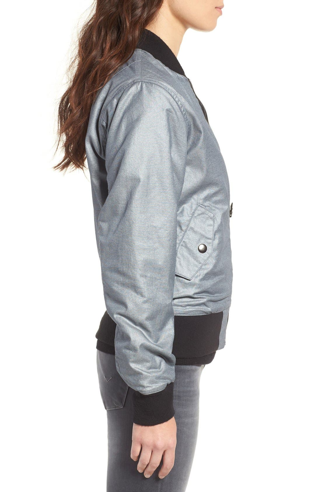 Alternate Image 3  - Hudson Jeans Gene Metallic Bomber Jacket