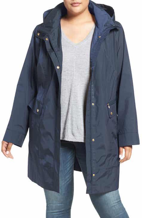 82f406ec240 Cole Haan Water Resistant Rain Jacket (Plus Size)
