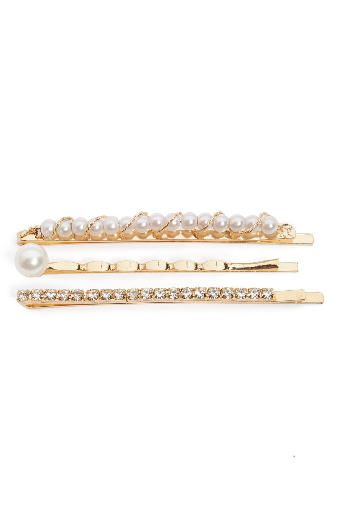 Cara 3-Pack Embellished Bobby Pins