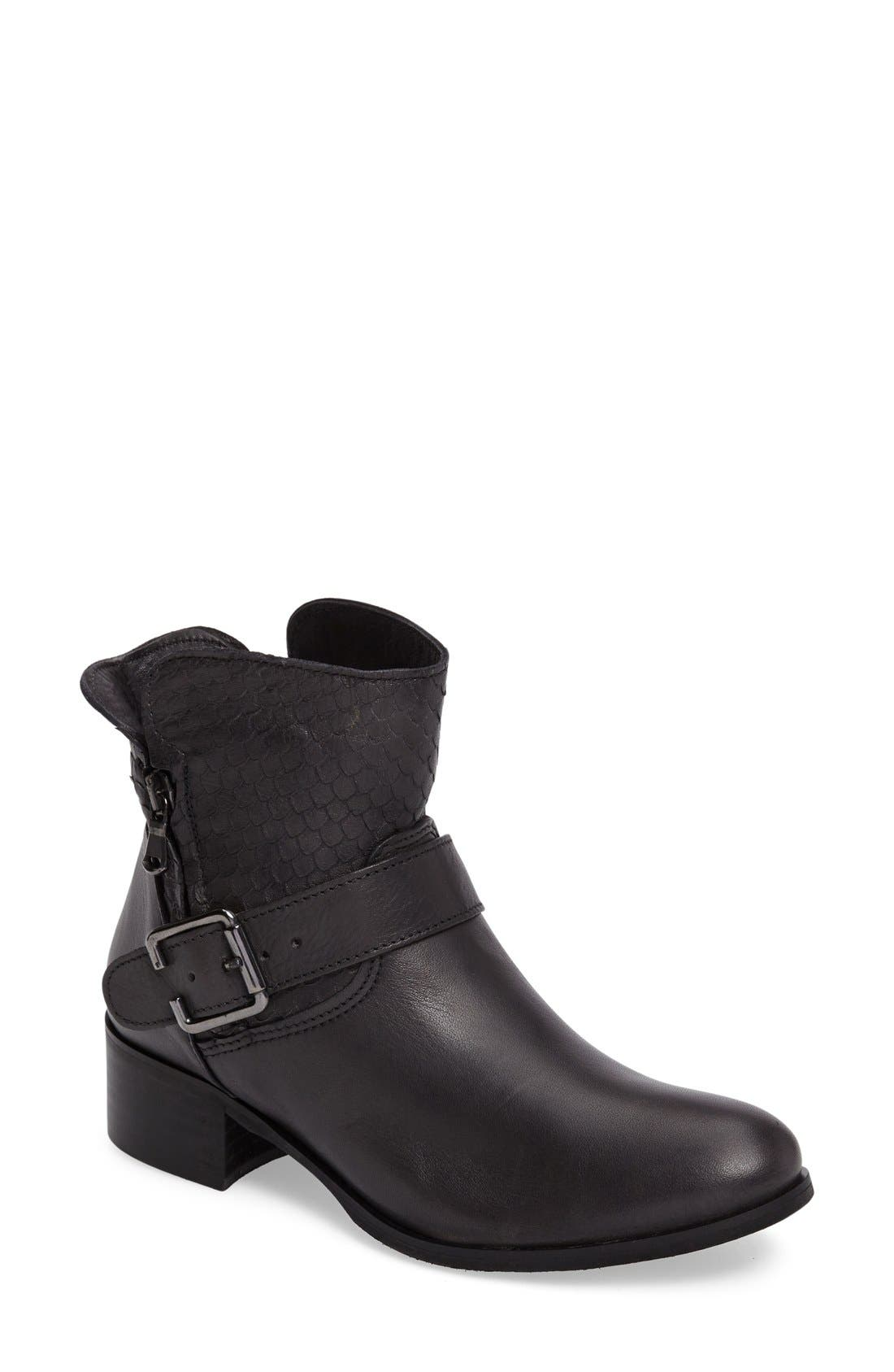 Alternate Image 1 Selected - CrossTown Chiara 22 Textured Buckle Strap Bootie (Women)