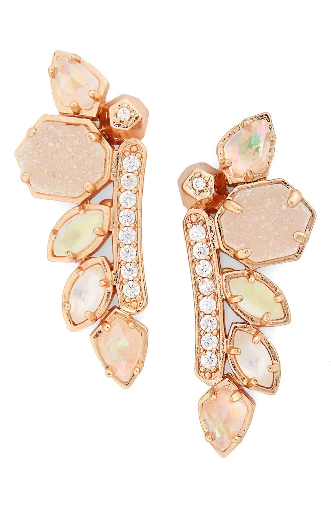 Main Image - Kendra Scott 'Madison' Crystal Ear Crawlers