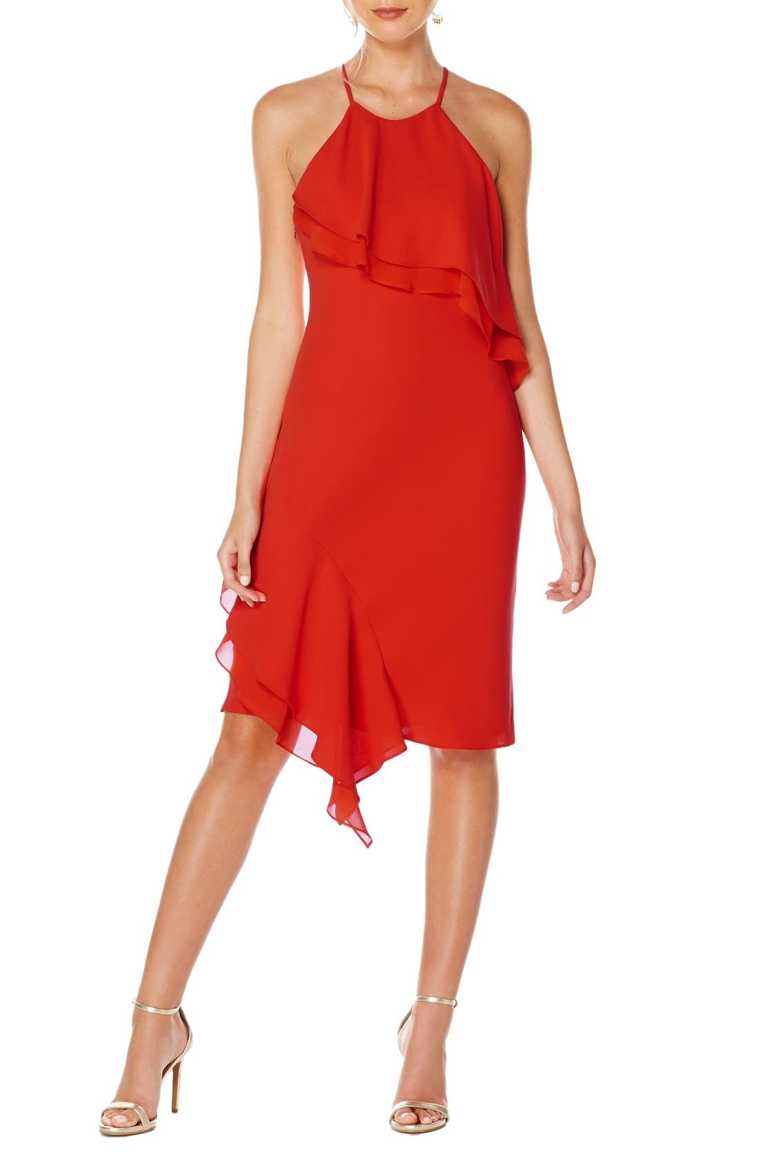 Alternate Image 1 Selected - Laundry by Shelli Segal Chiffon Dress