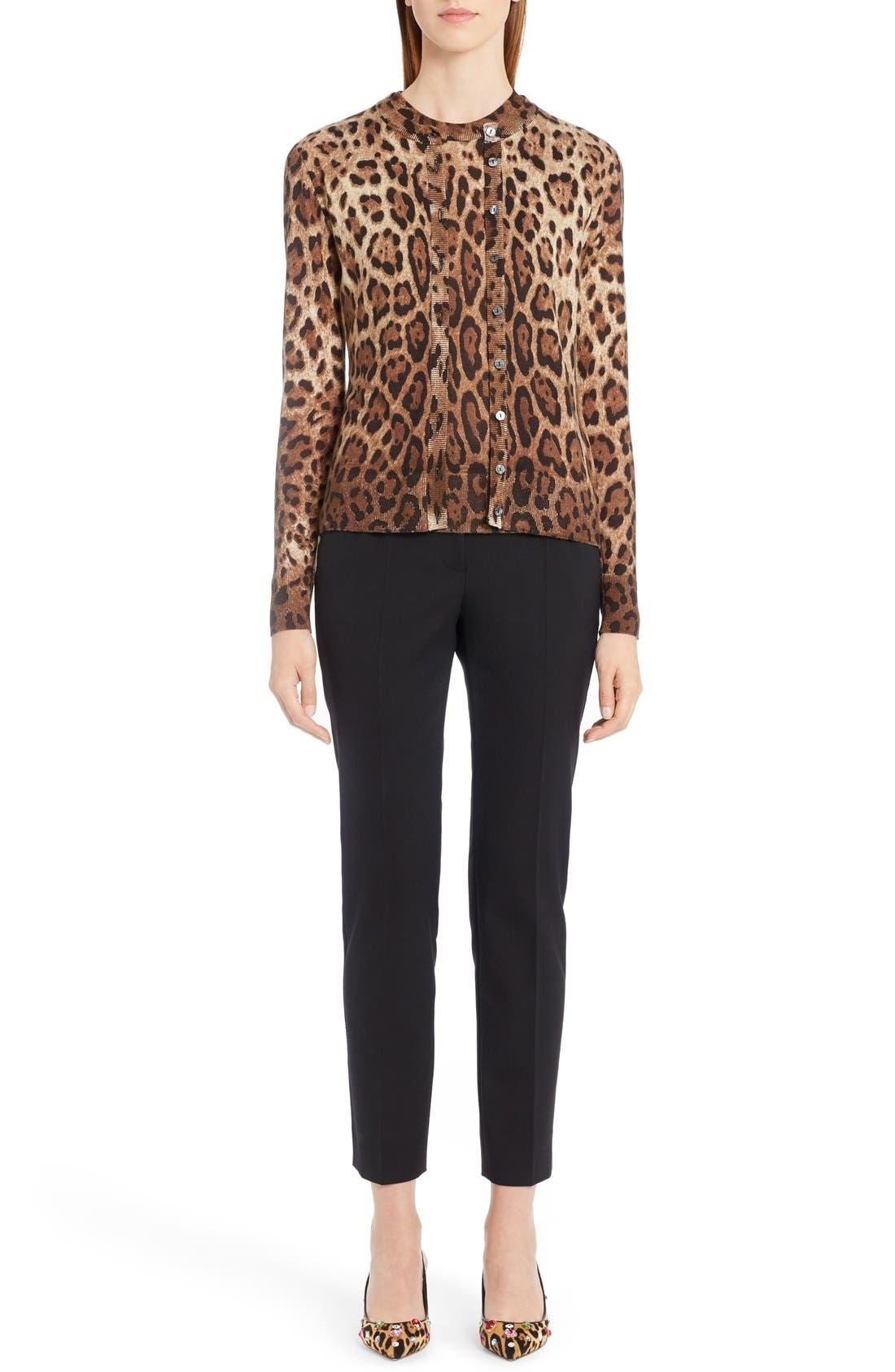 Alternate Image 7  - Dolce&Gabbana Leopard Print Silk & Cashmere Sweater
