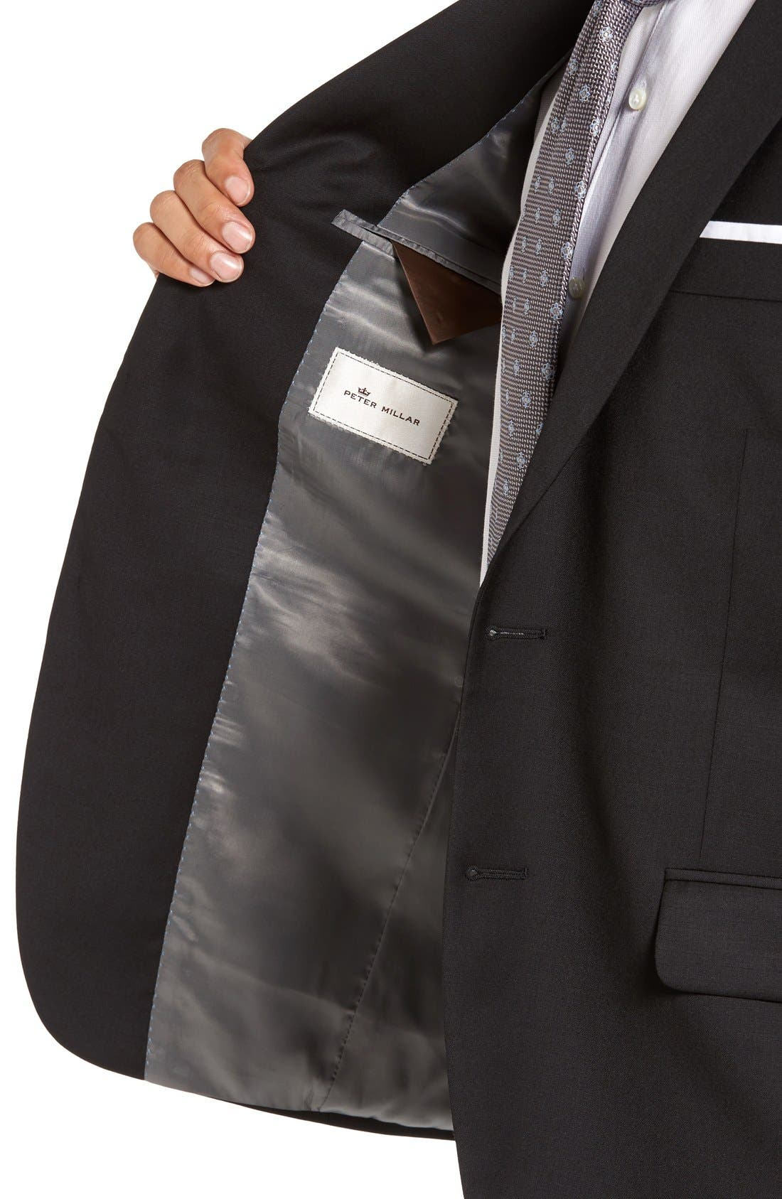 'Flynn' Classic Fit Wool Blazer,                             Alternate thumbnail 4, color,                             Black