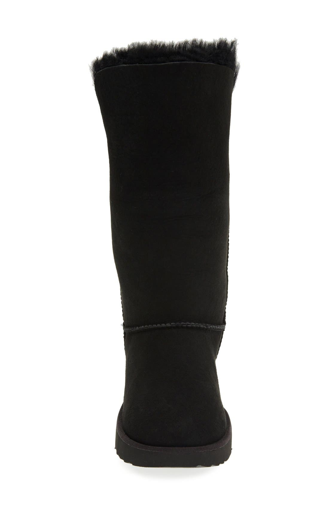 Classic Cuff Tall Boot,                             Alternate thumbnail 3, color,                             Black Suede