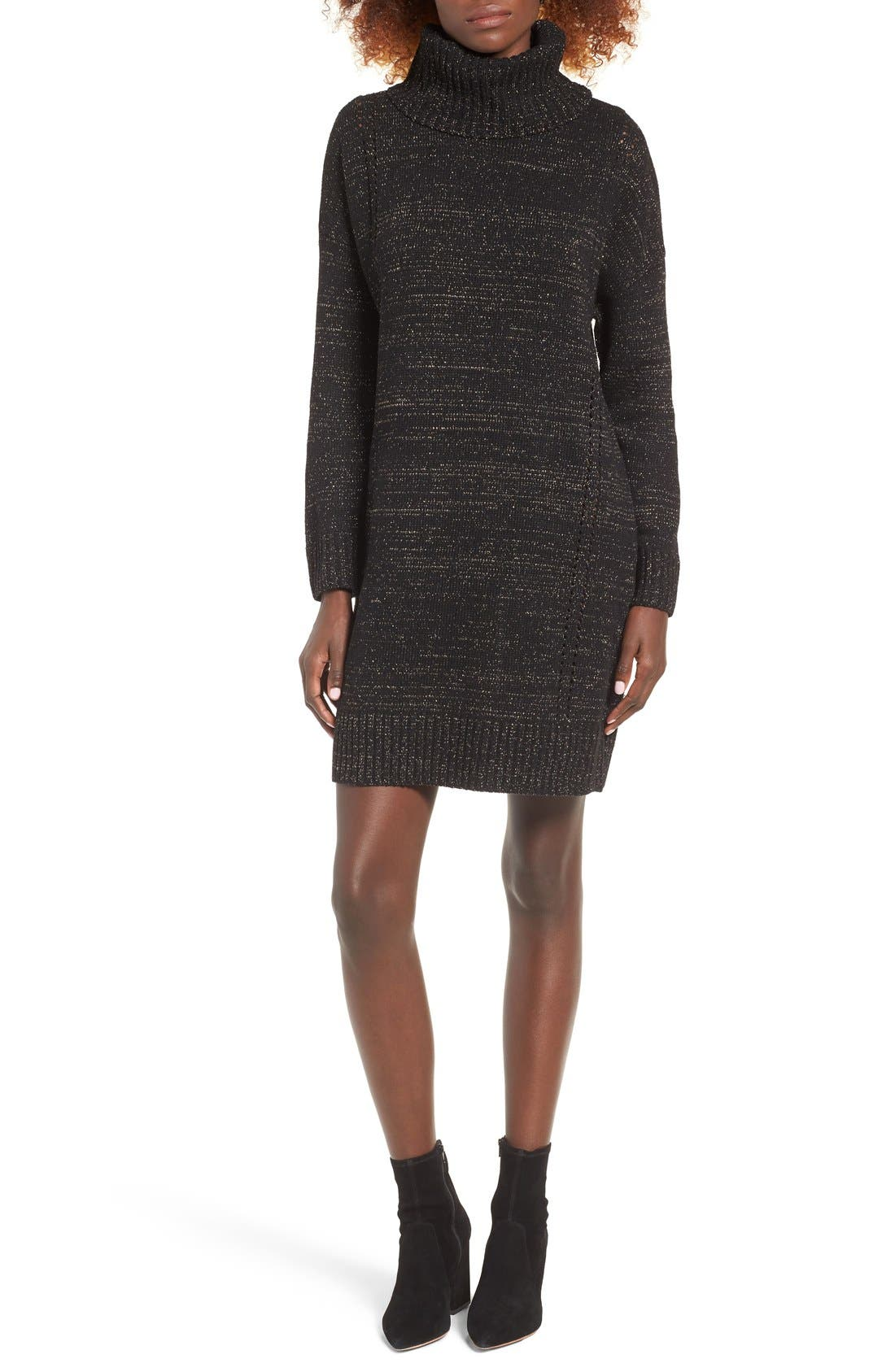 Main Image - MOON RIVER Turtleneck Sweater Dress