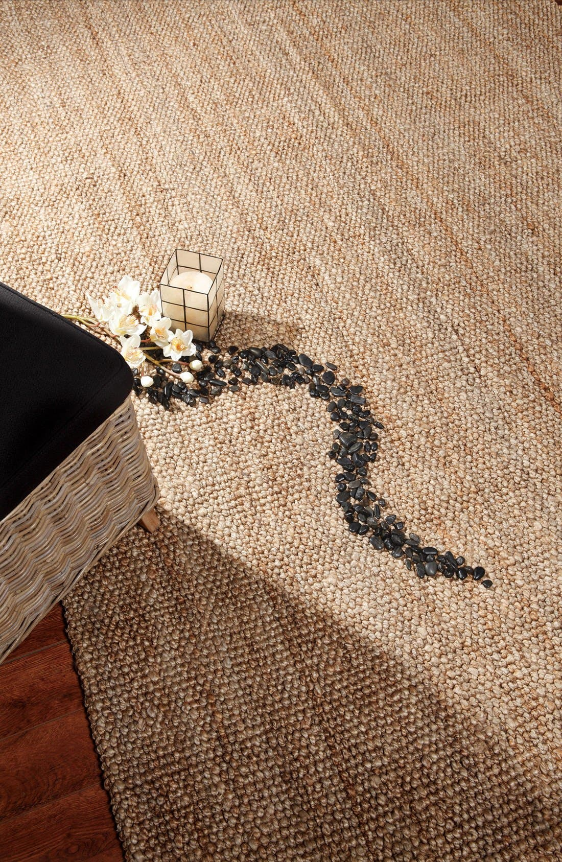 Hand Woven Loop Rug,                             Alternate thumbnail 4, color,                             Natural