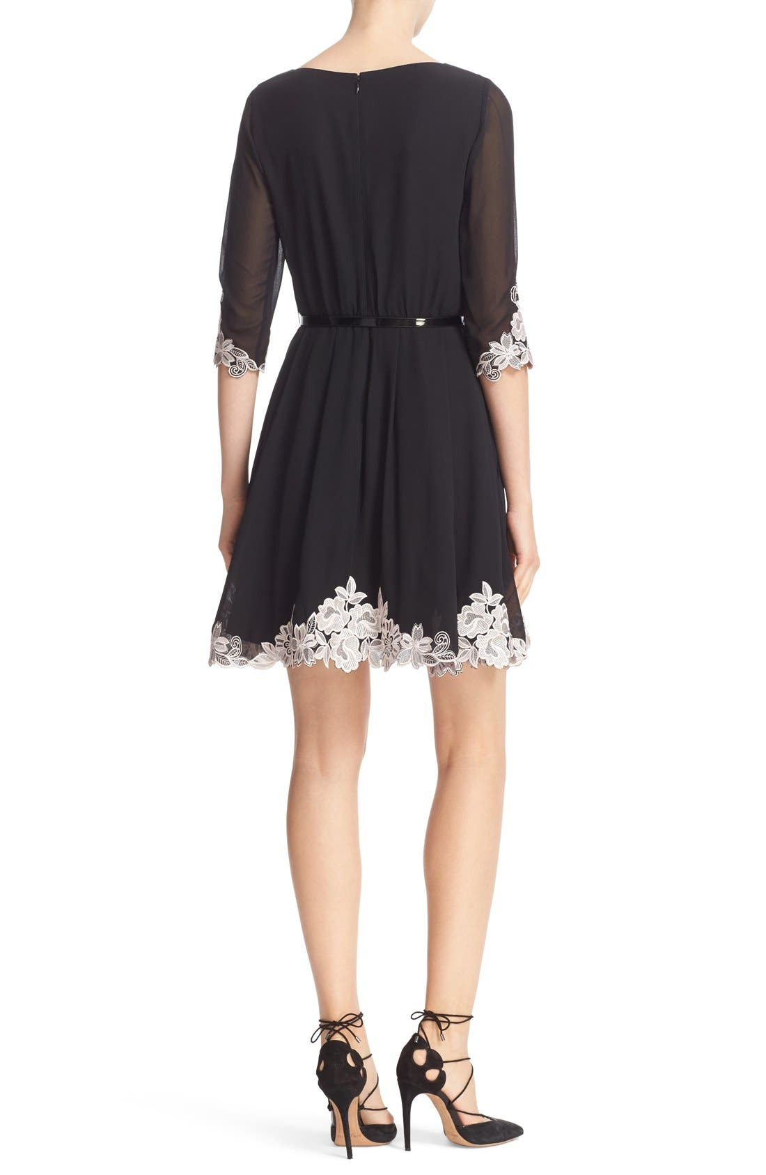 Alternate Image 2  - Ted Baker London Feay Belted Lace Embellished Dress
