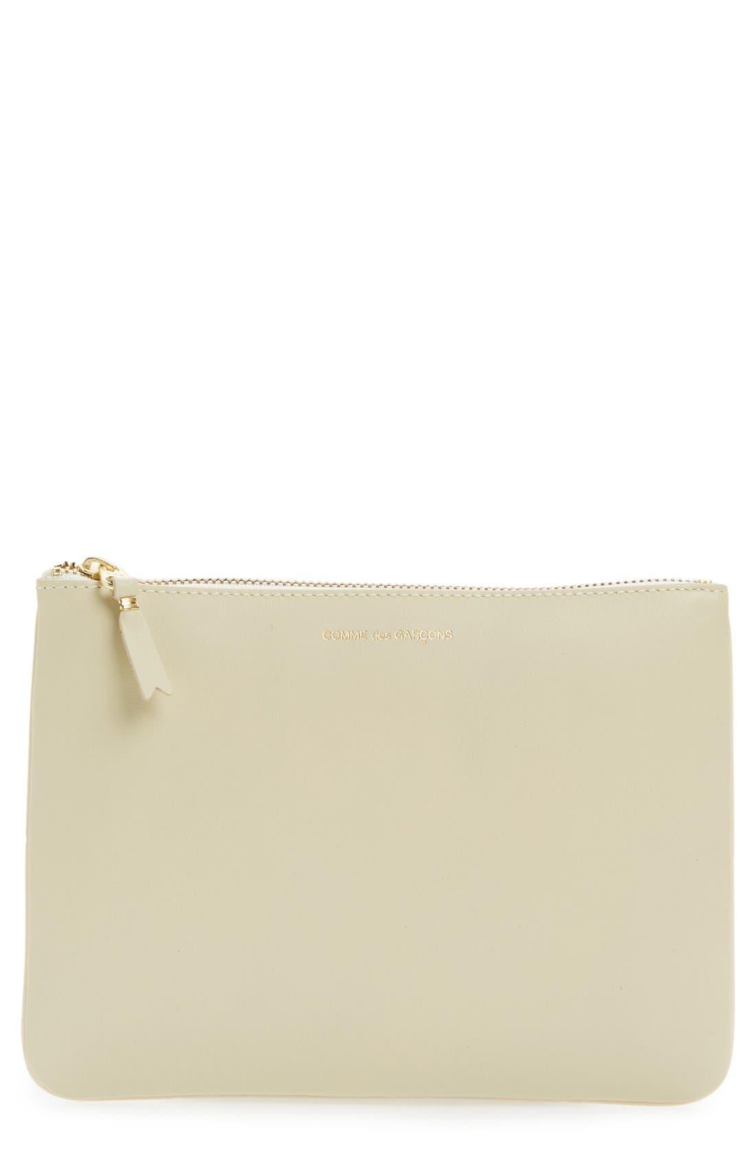 Main Image - Comme des Garçons Medium Classic Leather Zip-Up Pouch
