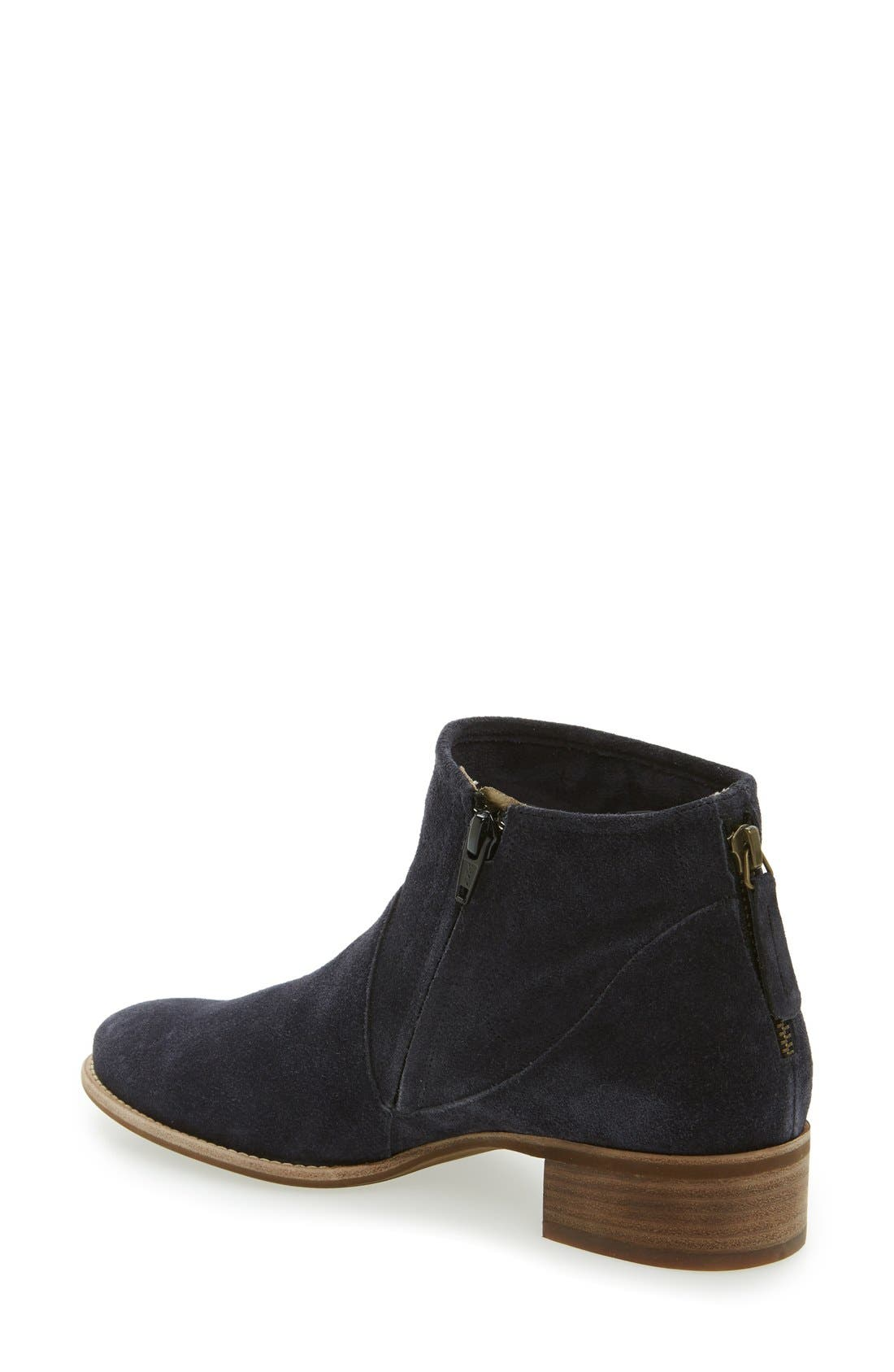 Logan Bootie,                             Alternate thumbnail 2, color,                             Navy Suede