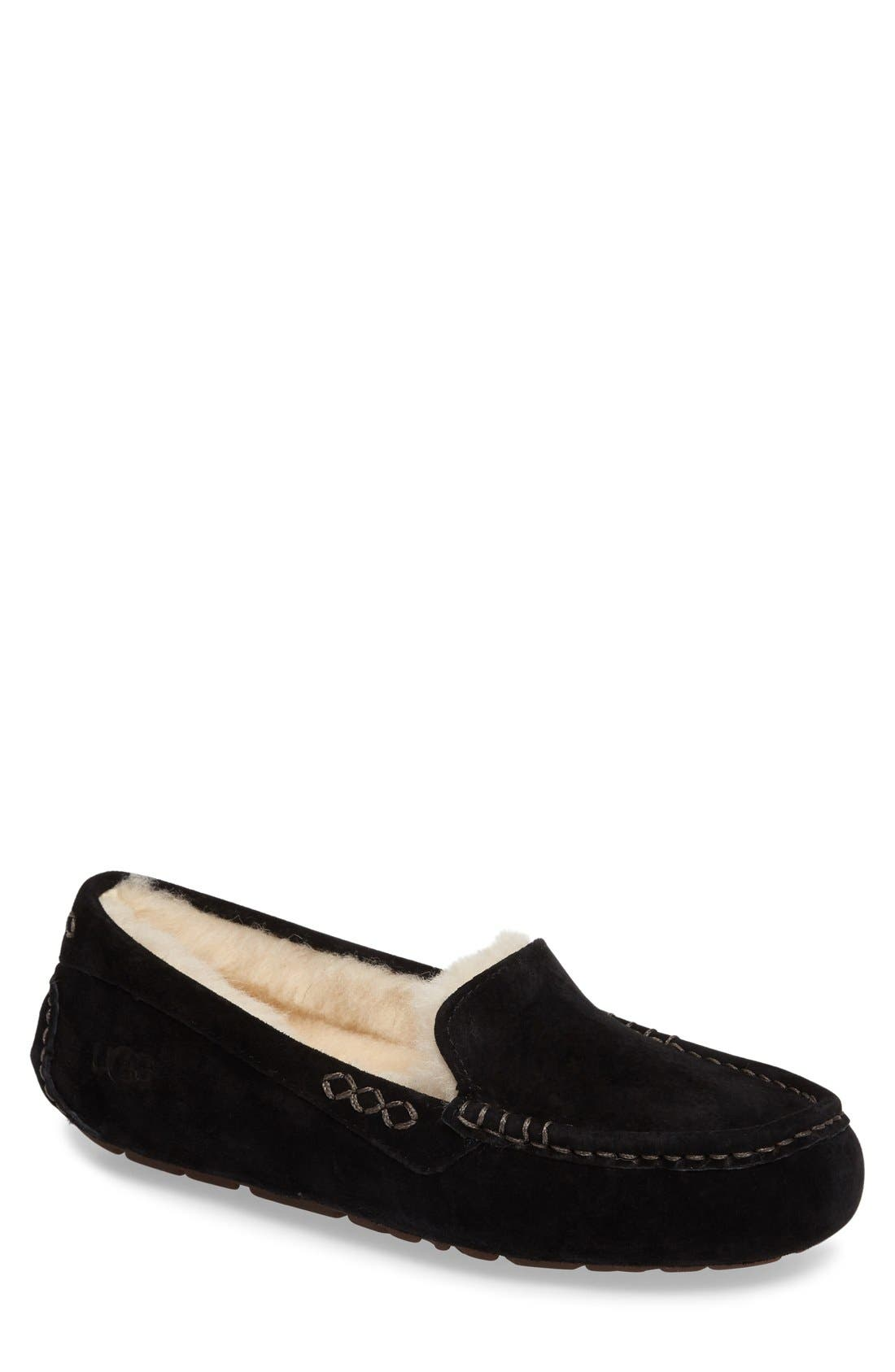 Ansley Water Resistant Slipper,                         Main,                         color, Black