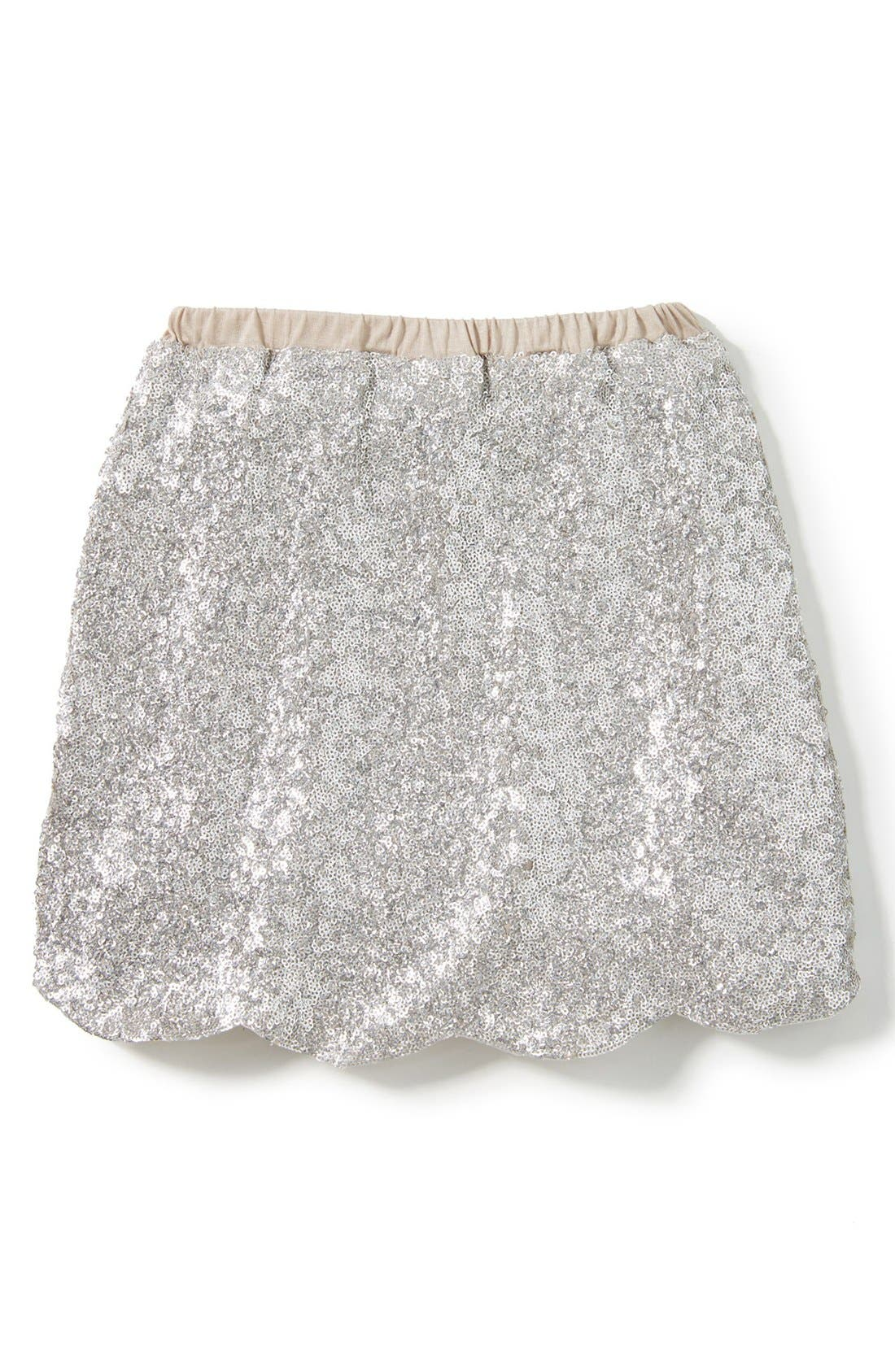 Drew Sequin Skirt,                         Main,                         color, Silver
