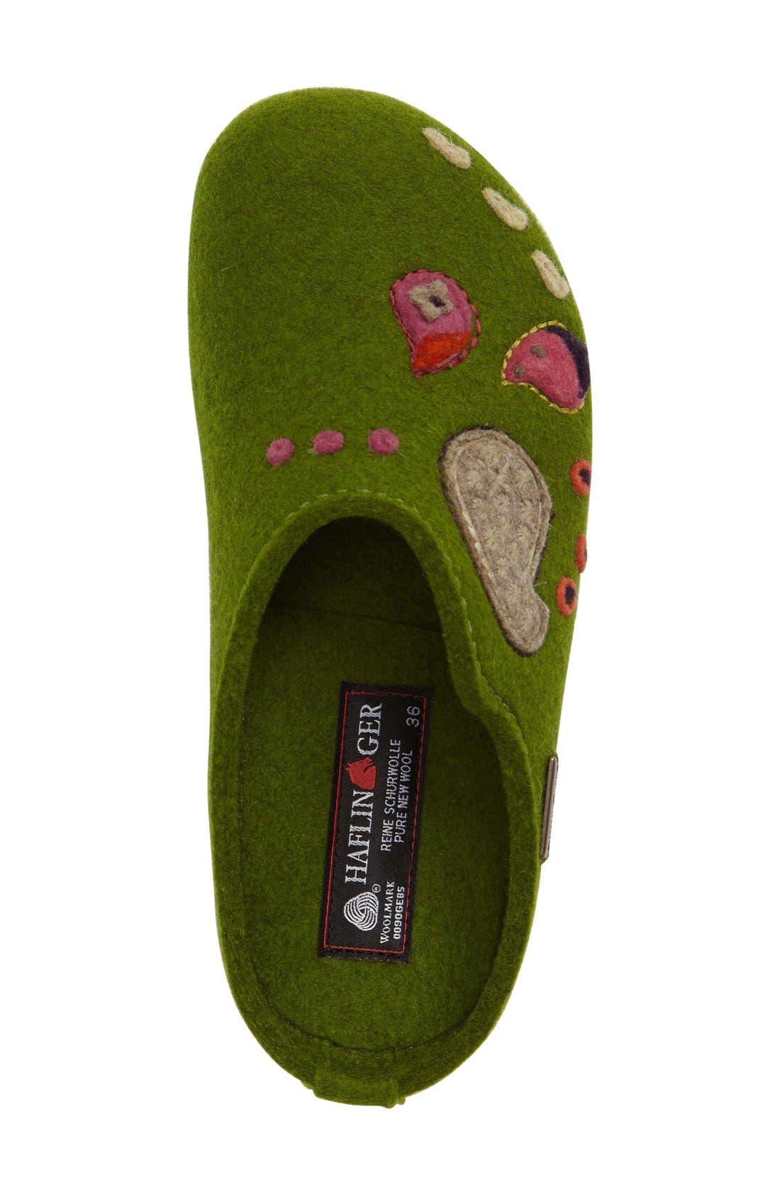 Paisley Slipper,                             Alternate thumbnail 3, color,                             Green Wool
