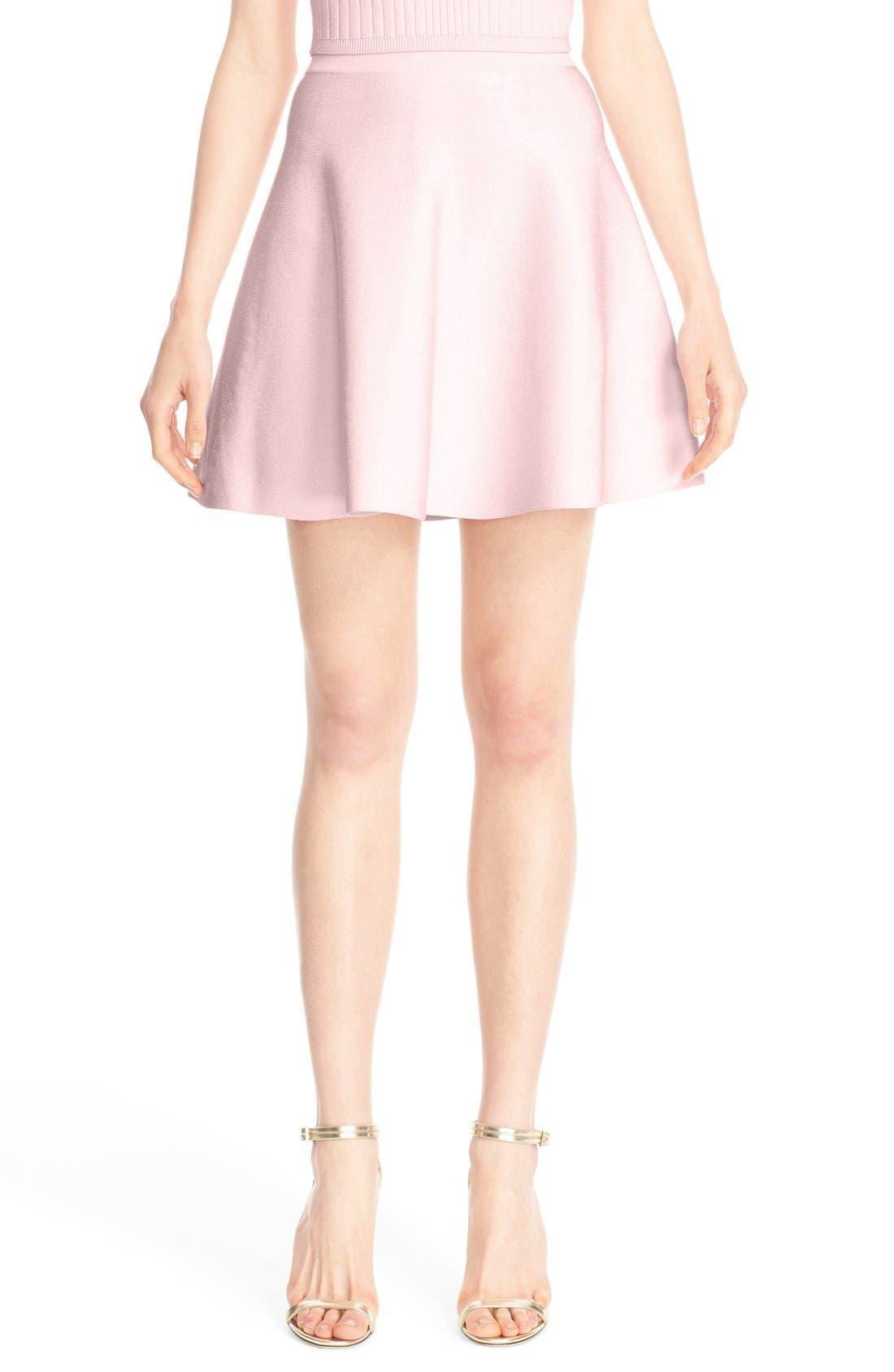 Main Image - Cushnie et Ochs Knit Circle Cut Miniskirt