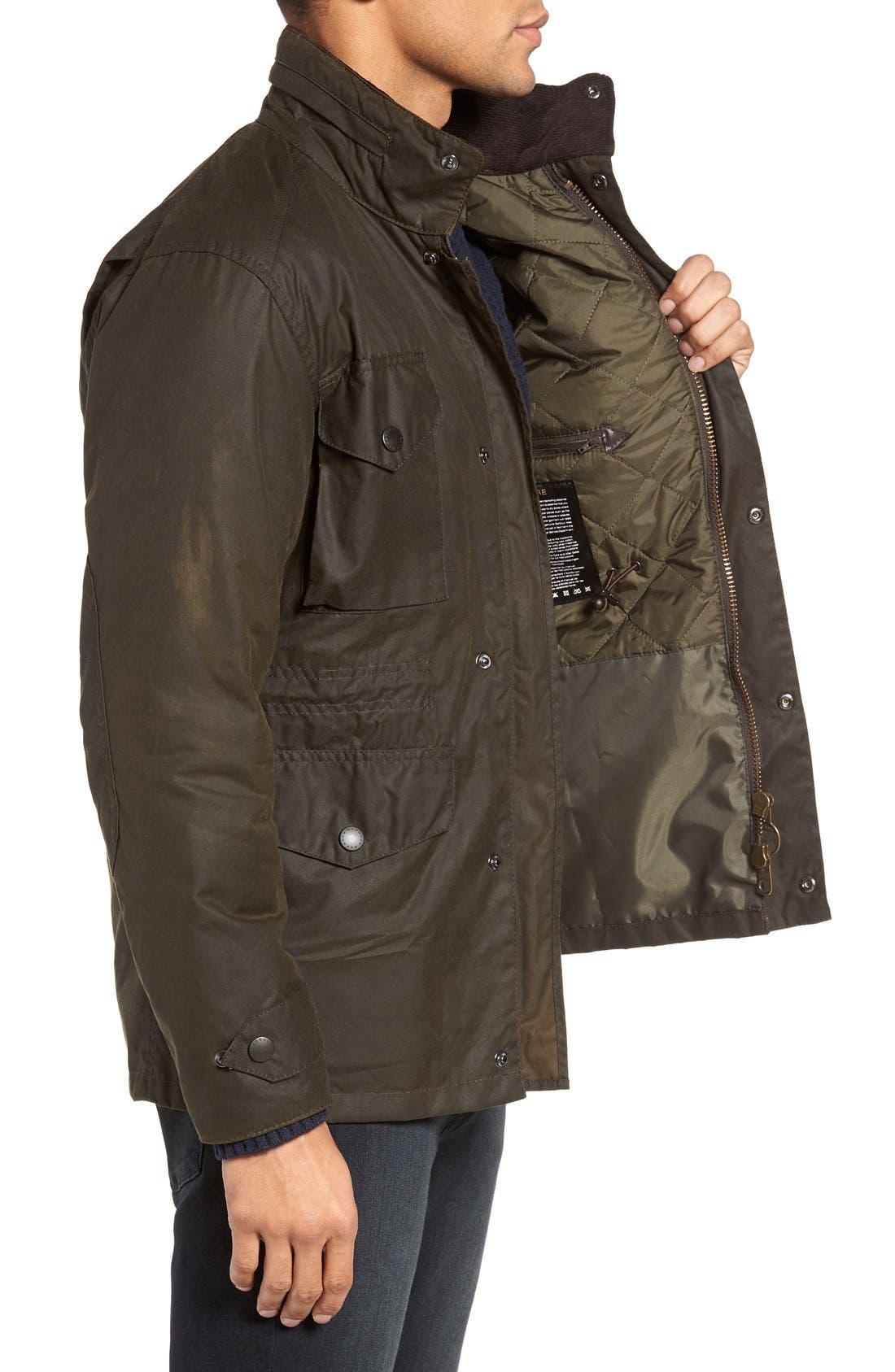 Alternate Image 3  - Barbour 'Sapper' Regular Fit Waterproof Waxed Cotton Jacket