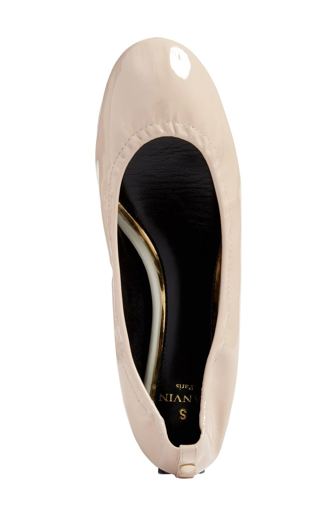 Alternate Image 3  - Lanvin Smooth Leather Ballet Flat (Women)