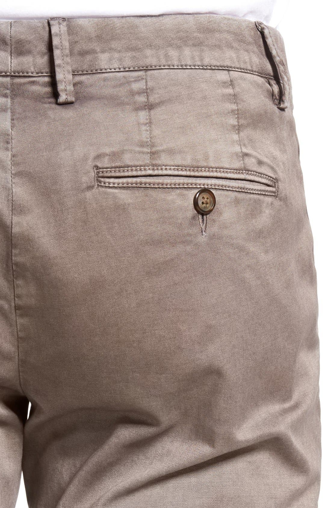 Enzyme Washed Chinos,                             Alternate thumbnail 4, color,                             Grey