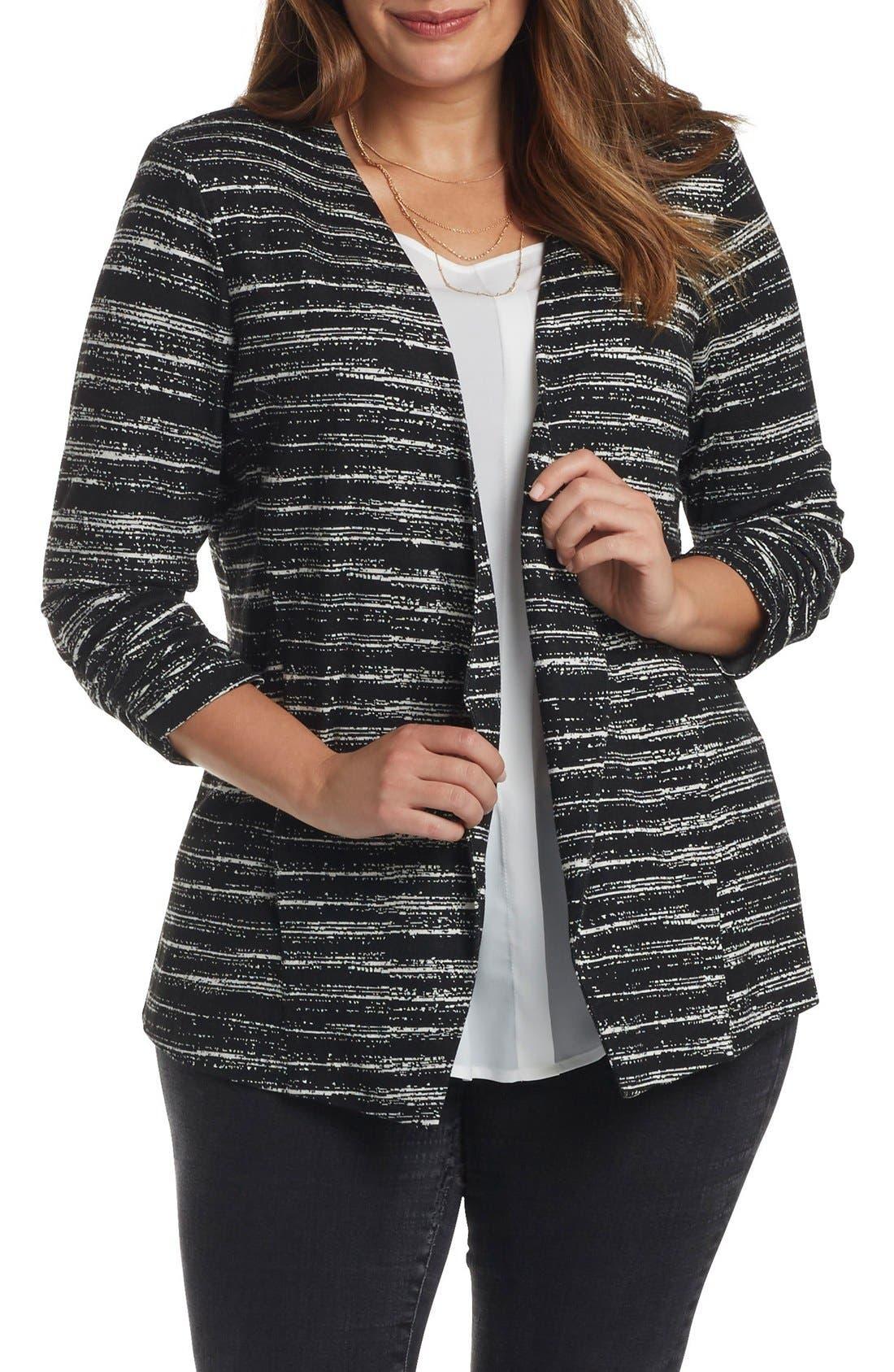 Main Image - Tart 'Olga' Knit Jacket (Plus Size)