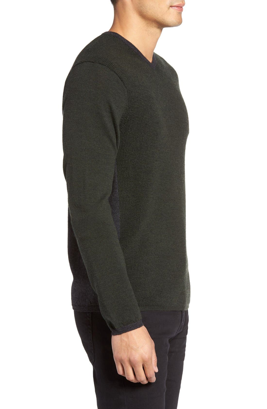 Alternate Image 3  - Zachary Prell V-Neck Colorblock Merino Wool Pullover