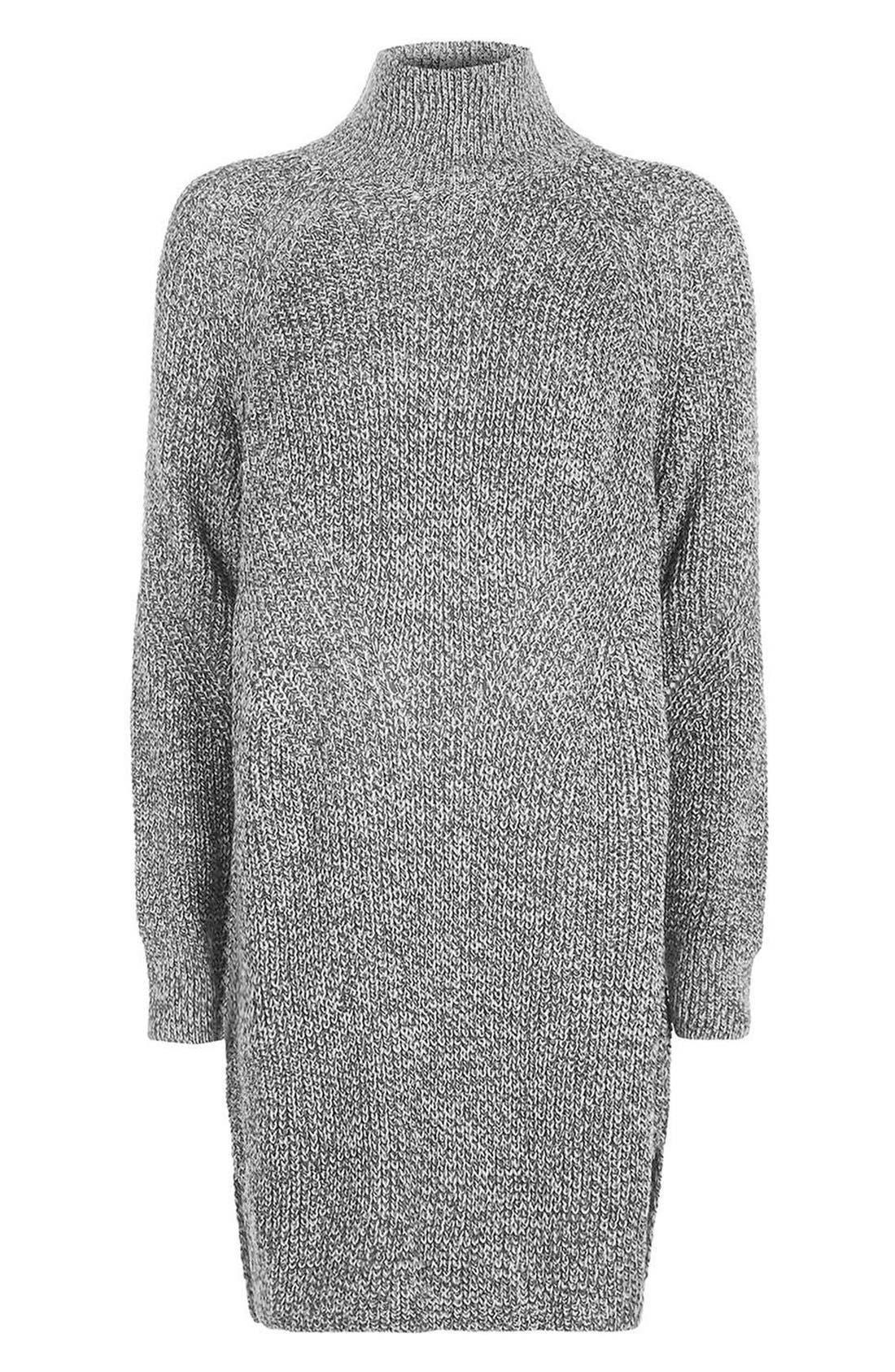 Alternate Image 5  - Topshop Grunge Funnel Neck Sweater Dress