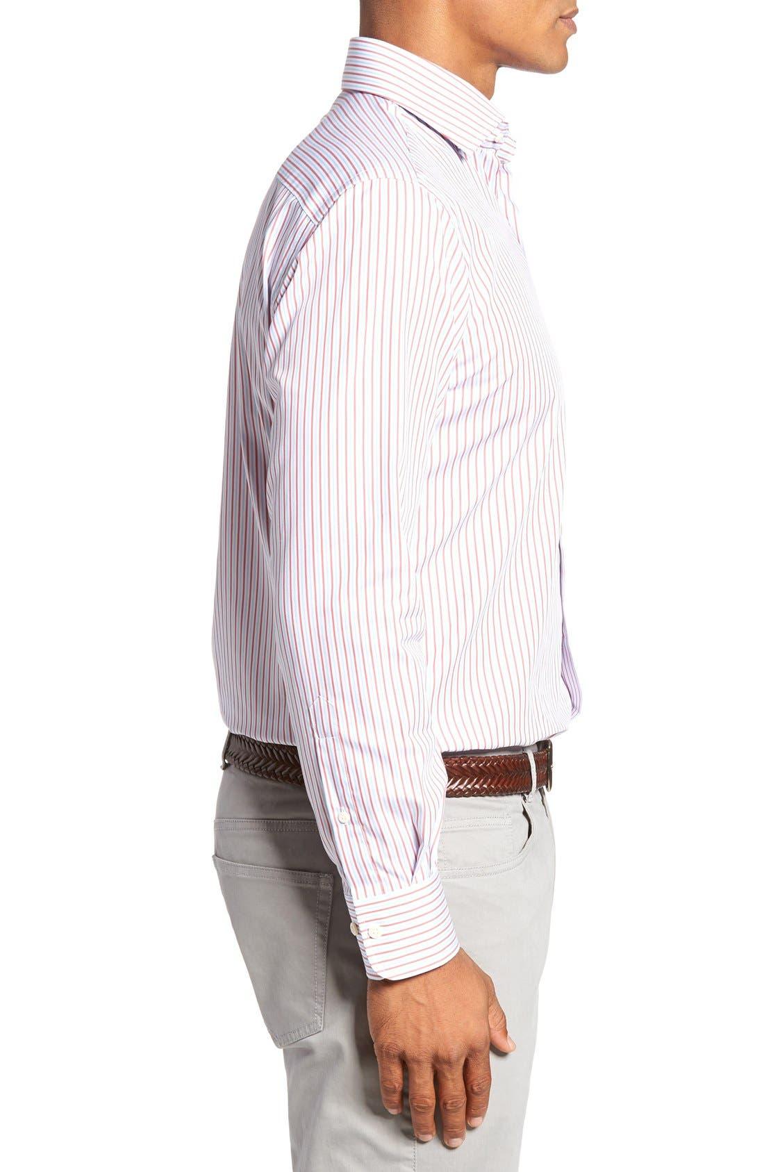 Alternate Image 3  - Peter Millar Summer Stripe Regular Fit Sport Shirt