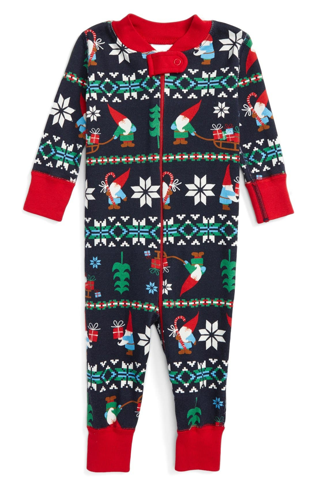 Hanna Andersson Gnome Fair Isle Organic Cotton Fitted One-Piece ...