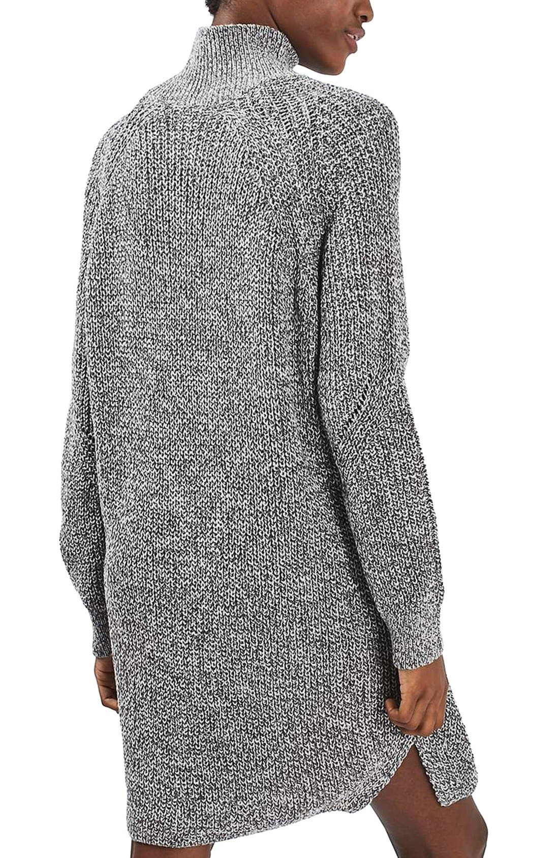 Alternate Image 3  - Topshop Grunge Funnel Neck Sweater Dress