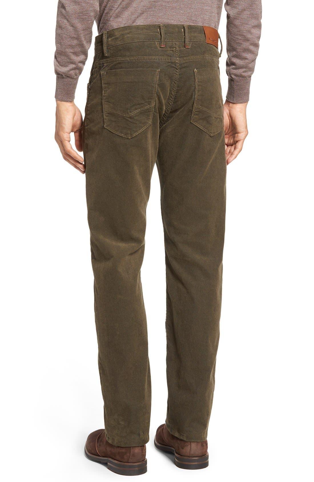 Slim Fit Corduroy Pants,                             Alternate thumbnail 2, color,                             Sage