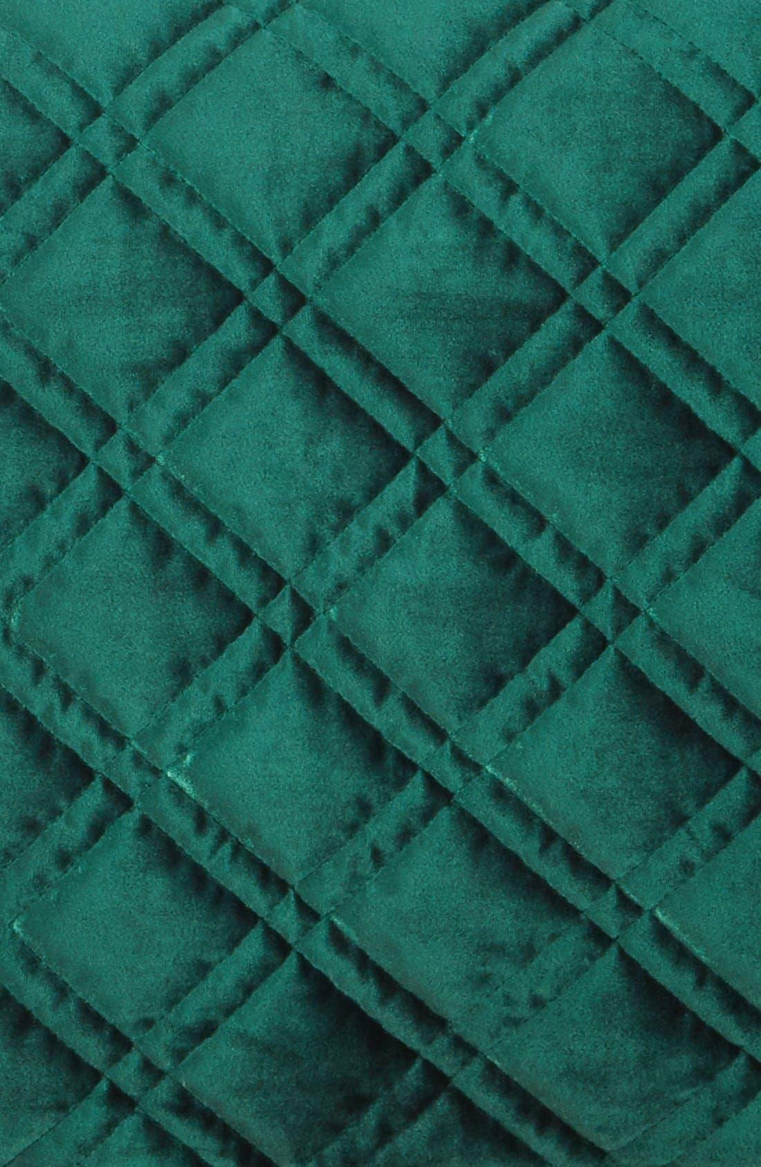 Velvet Quilt,                             Alternate thumbnail 2, color,                             Emerald