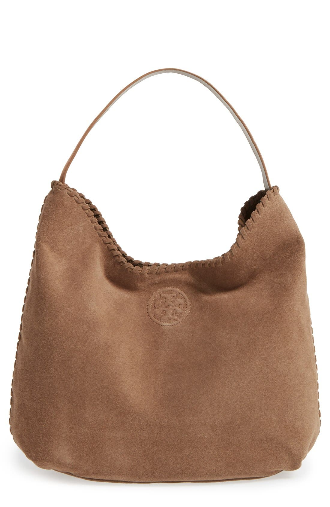 Alternate Image 1 Selected - Tory Burch 'Marion' Suede Hobo
