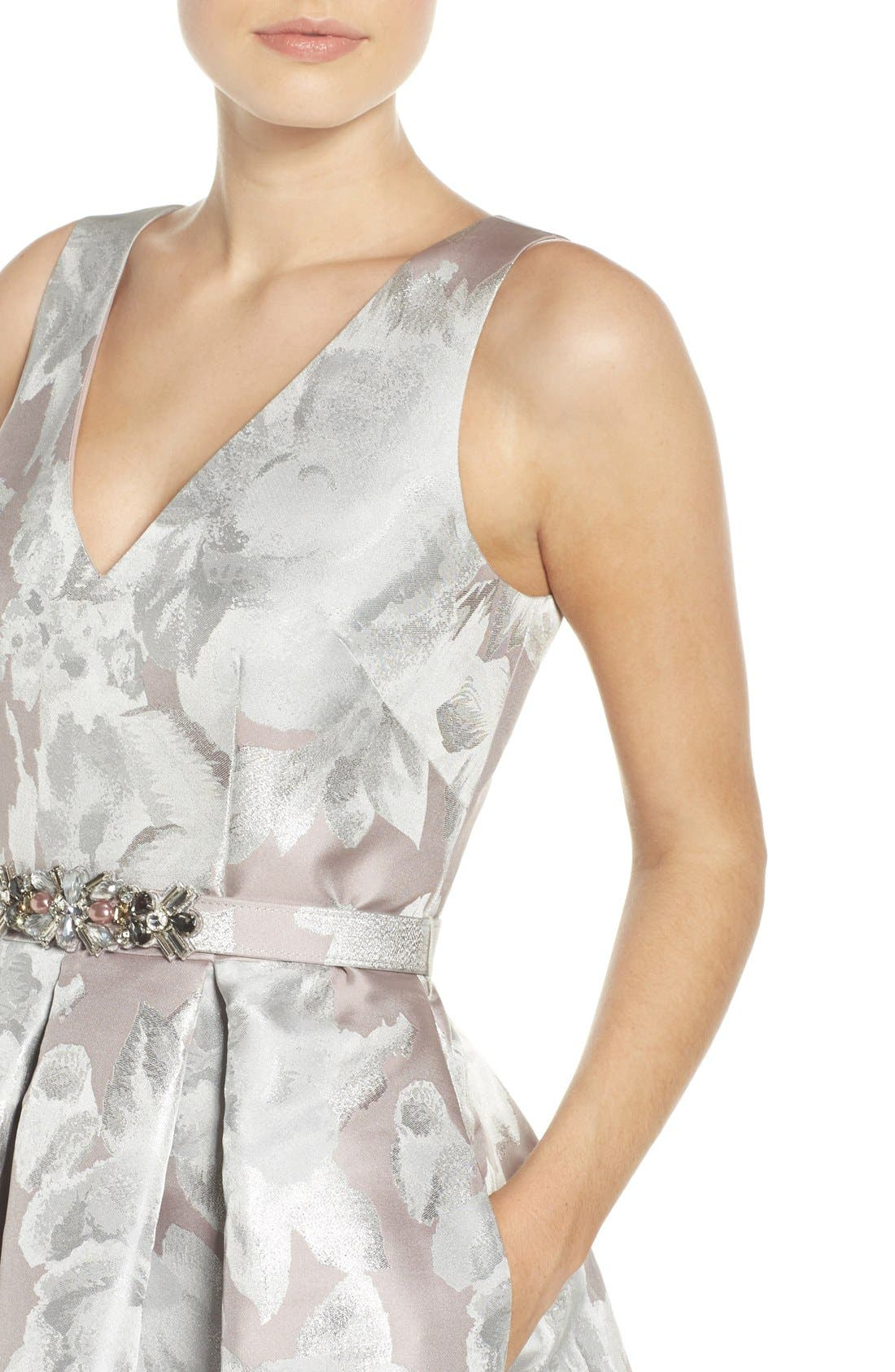 Alternate Image 4  - Eliza J Sleeveless High/Low Dress