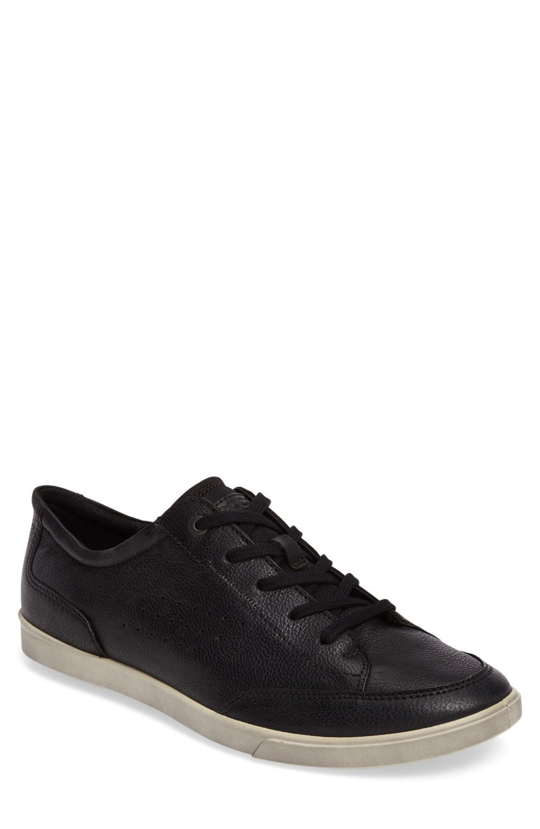 'Collin - Classic' Sneaker,                             Main thumbnail 1, color,                             Black Leather