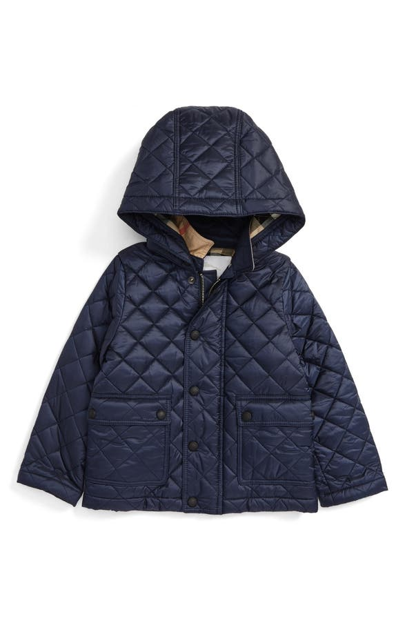 Burberry Jamie Water Resistant Quilted Jacket (Baby Boys & Toddler ... : baby quilted coat - Adamdwight.com