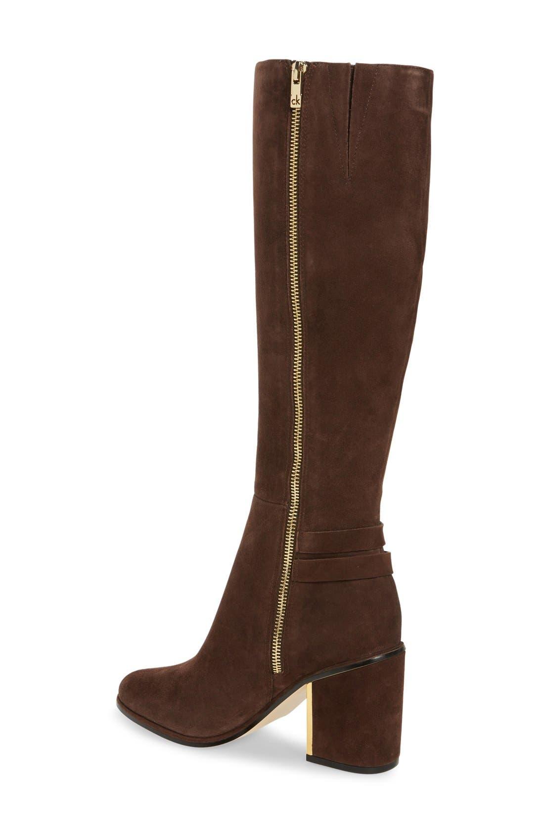 Alternate Image 2  - Calvin Klein Camie Water Resistant Knee High Boot (Women)