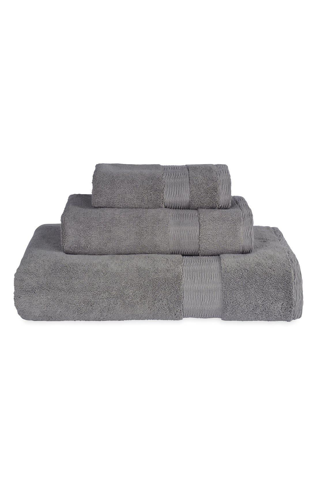 Mercer Wash Towel,                             Alternate thumbnail 2, color,                             Grey