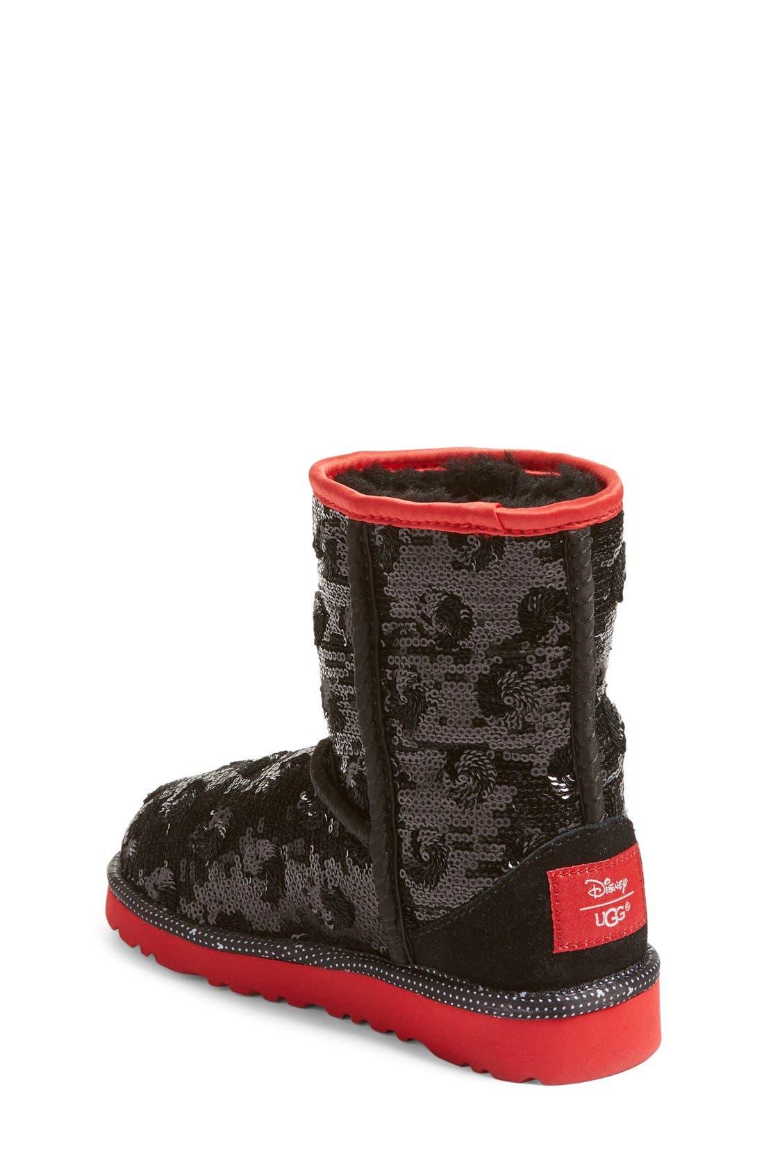 Alternate Image 2  - UGG® x Disney Minerva Short Boot (Little Kid & Big Kid)