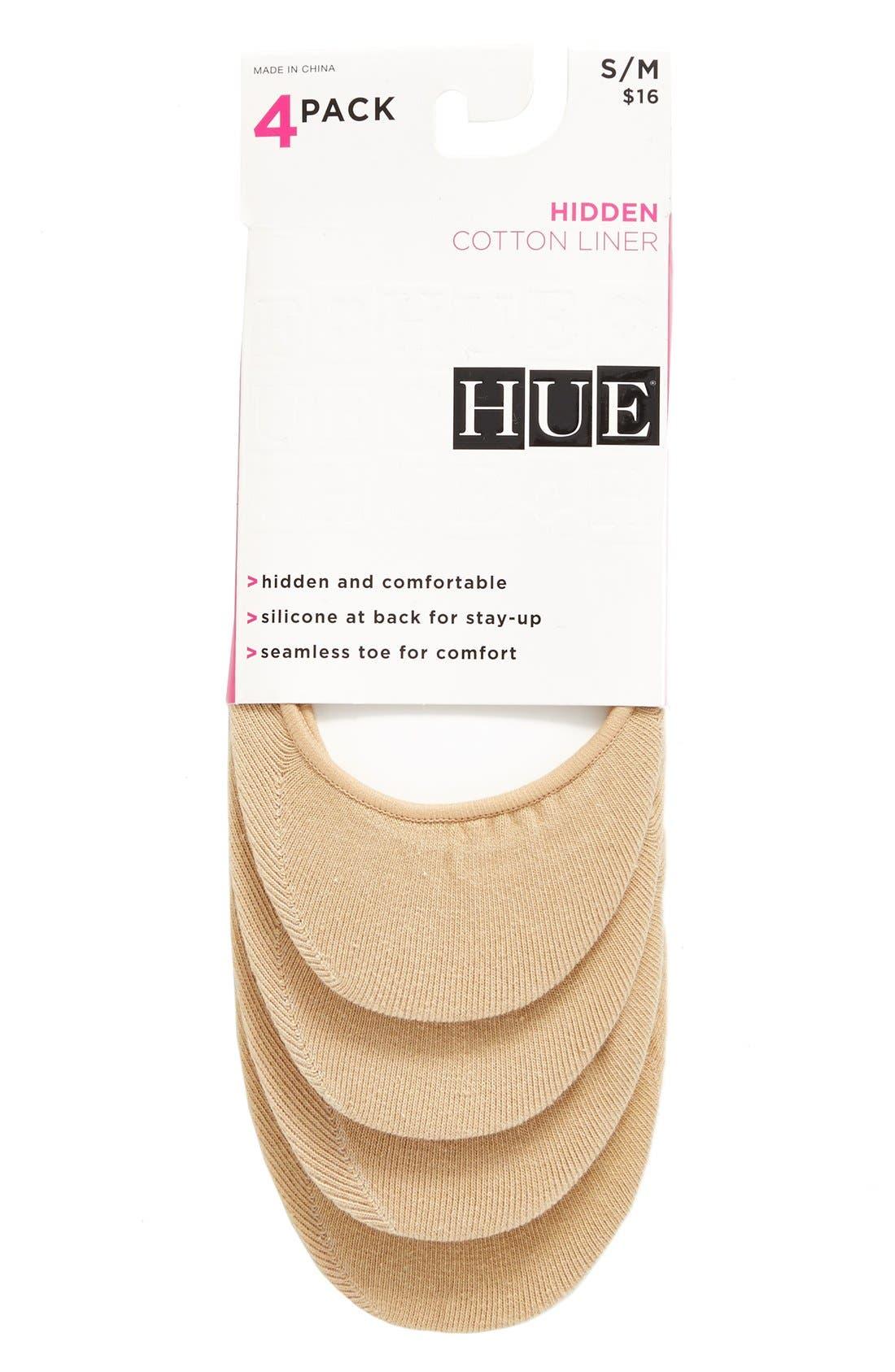 Alternate Image 2  - Hue 4-Pack Liner Socks