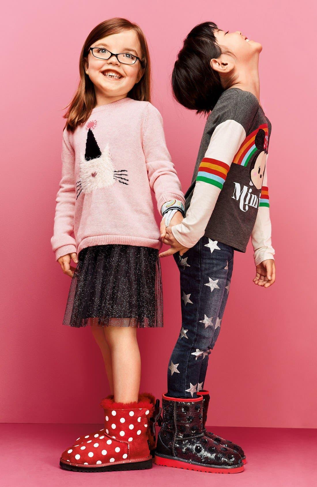 Alternate Image 5  - UGG® x Disney Minerva Short Boot (Little Kid & Big Kid)