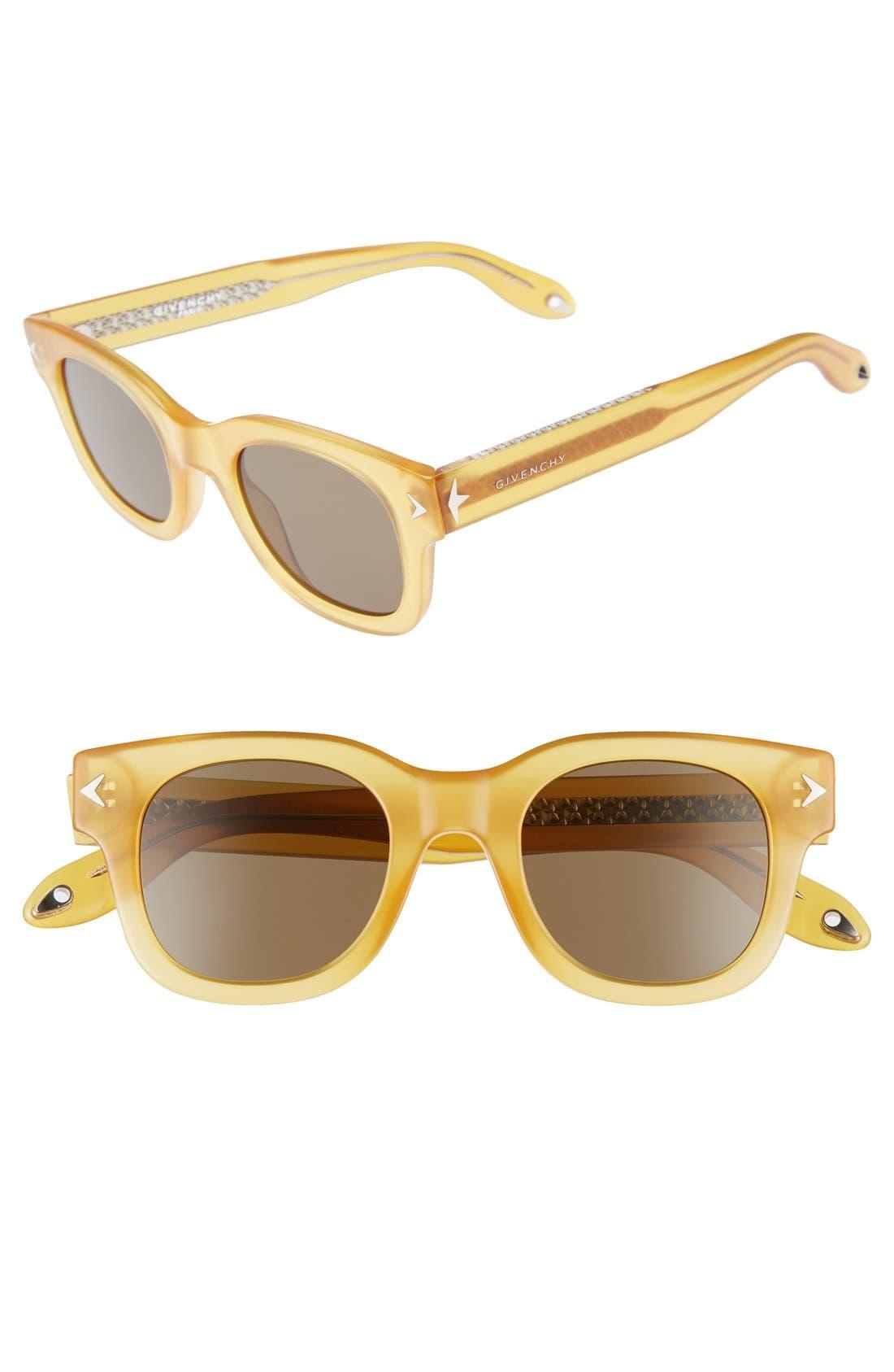 47mm Gradient Sunglasses,                         Main,                         color, Ochre