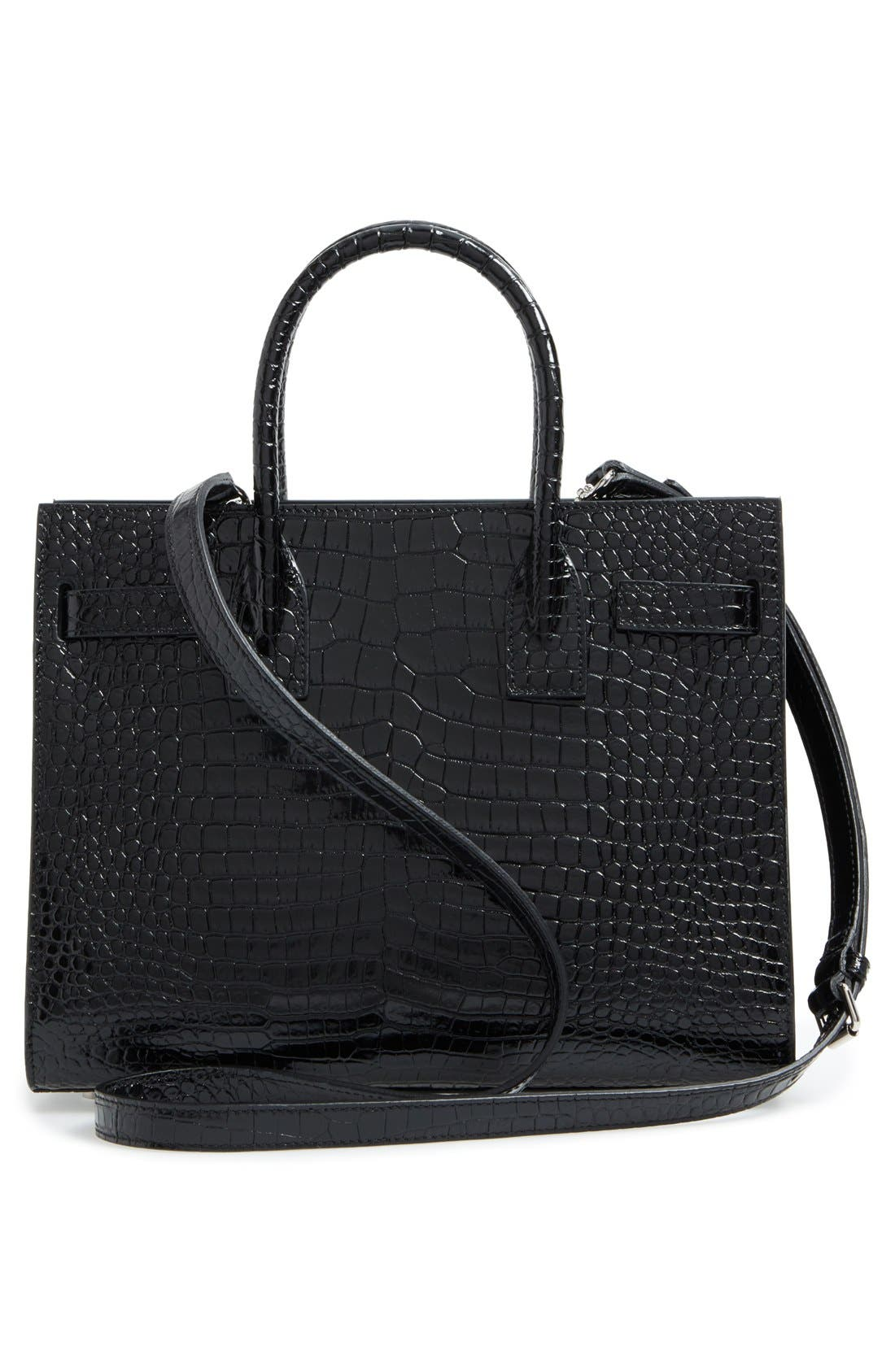 Alternate Image 2  - Saint Laurent Baby Sac de Jour Croc Embossed Calfskin Leather Tote