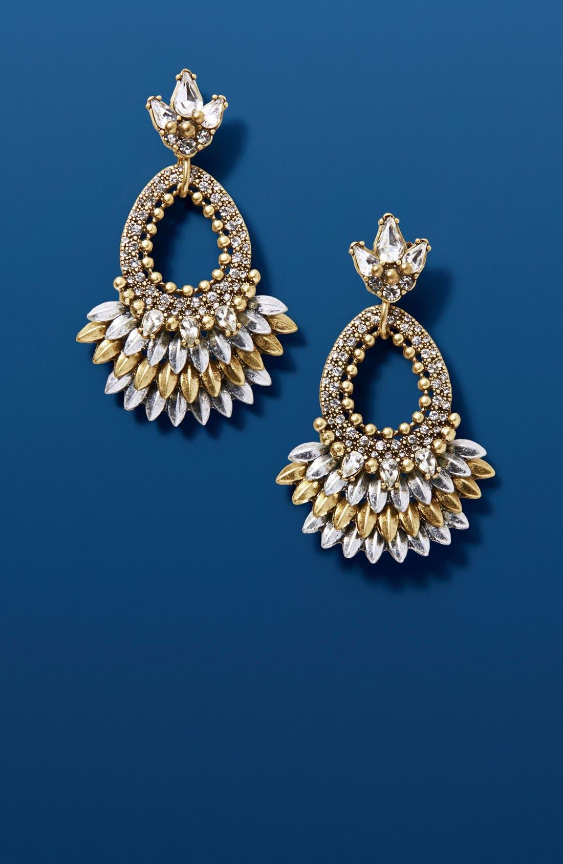 Alternate Image 2  - BaubleBar Tille Crystal Drop Earrings