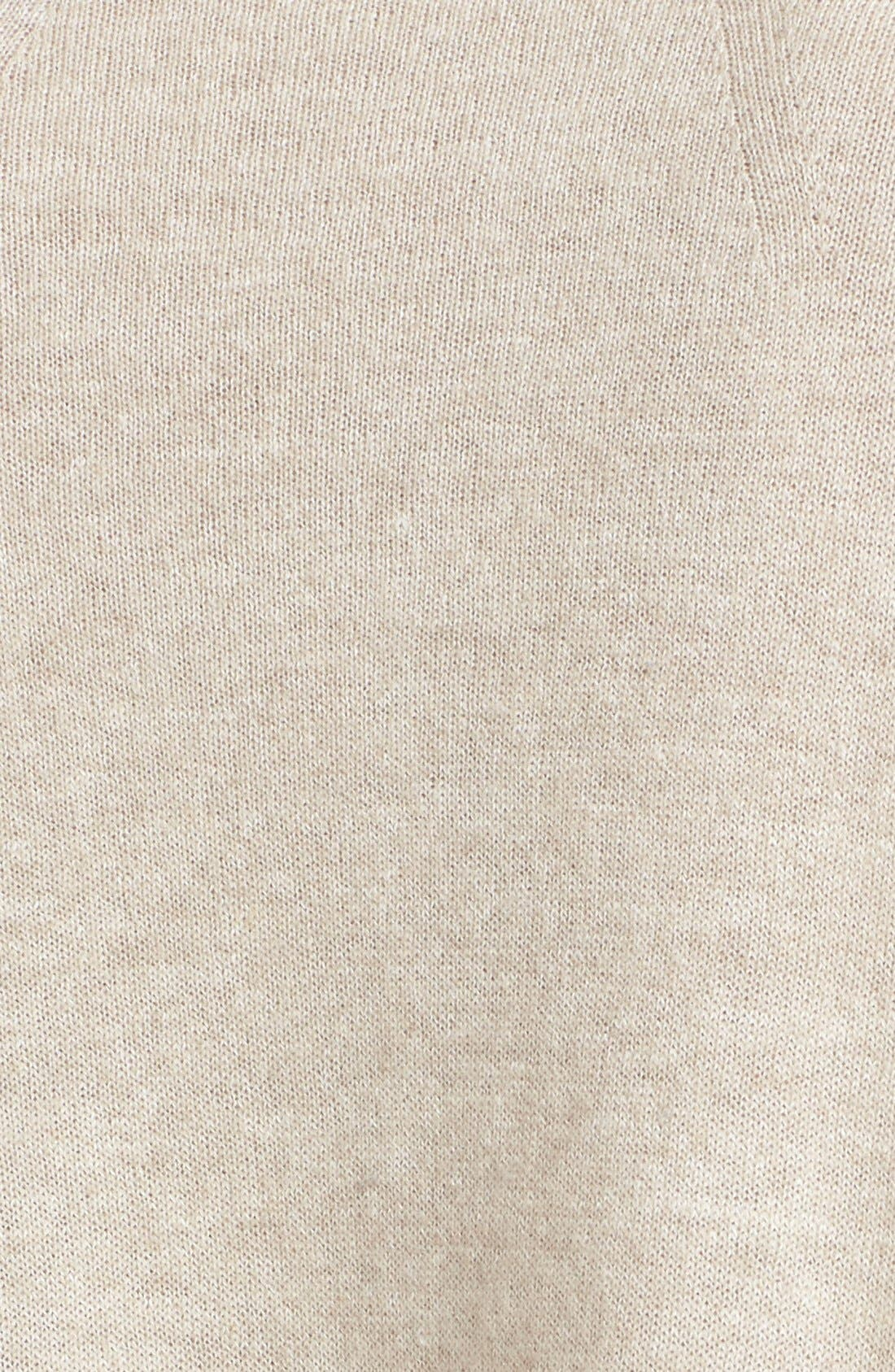 Linen & Cashmere Pullover,                             Alternate thumbnail 5, color,                             Heather Tan