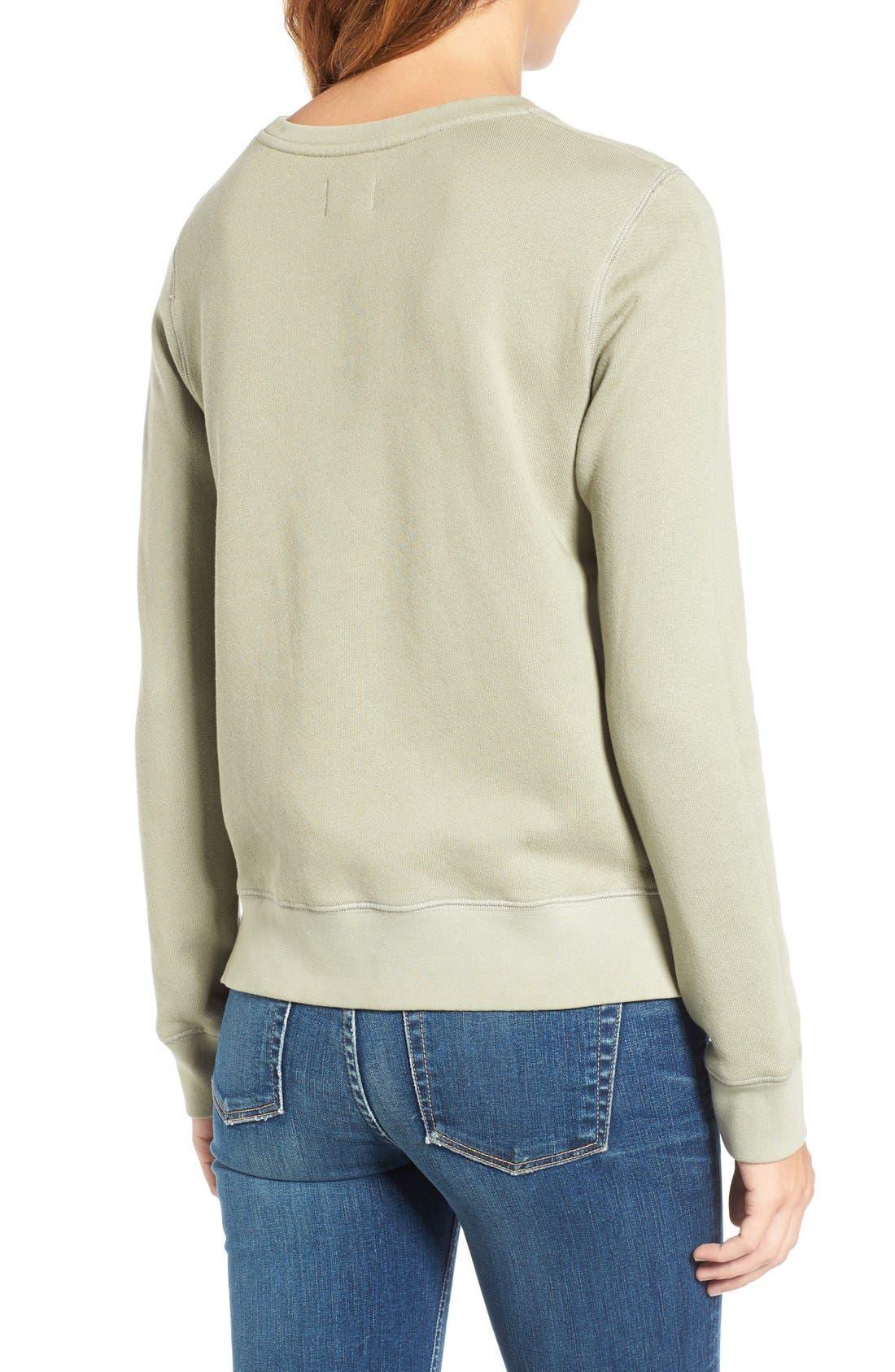 Army of Lovers Side Zip Sweatshirt,                             Alternate thumbnail 2, color,                             Army