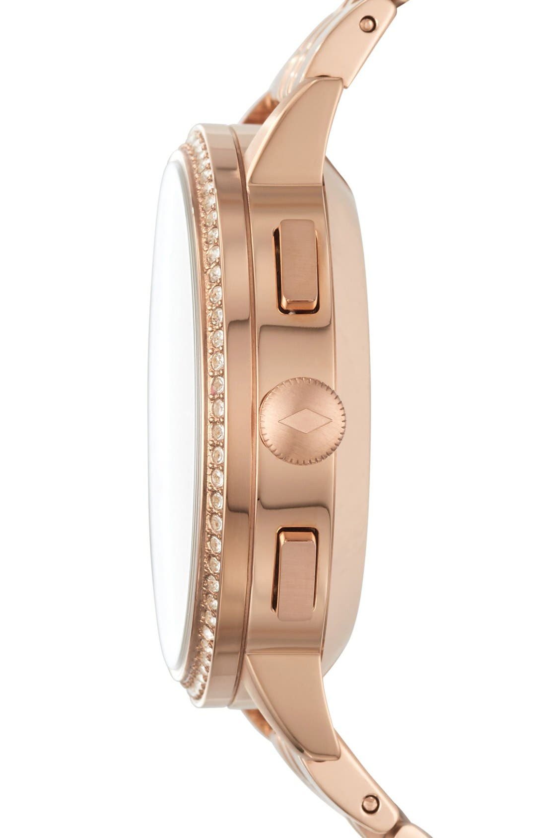 Gazer Bracelet Watch, 41mm,                             Alternate thumbnail 3, color,                             Rose Gold