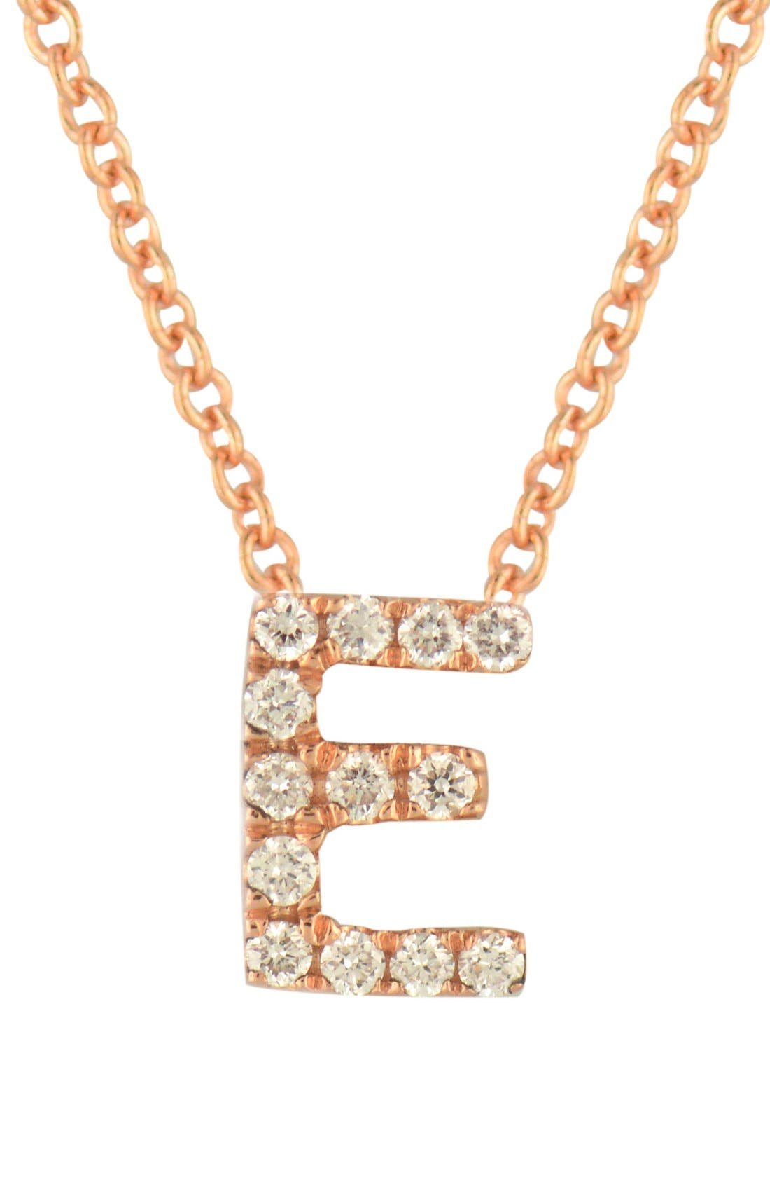 Main Image - Bony Levy Pavé Diamond Initial Pendant Necklace (Nordstrom Exclusive)