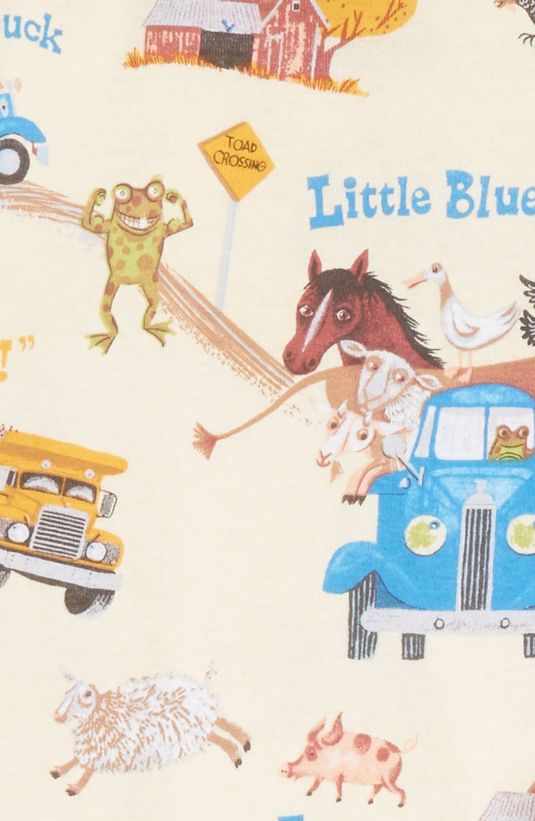 Little Blue Truck Fitted Two-Piece Pajamas,                             Alternate thumbnail 2, color,                             Yellow