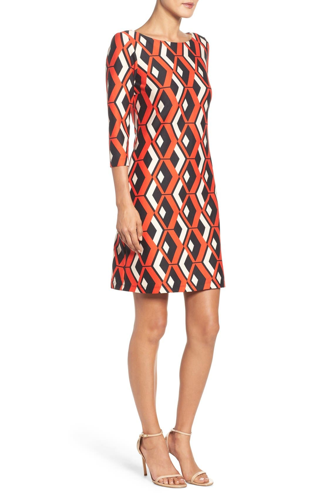Alternate Image 3  - Taylor Dresses Geo Print Shift Dress