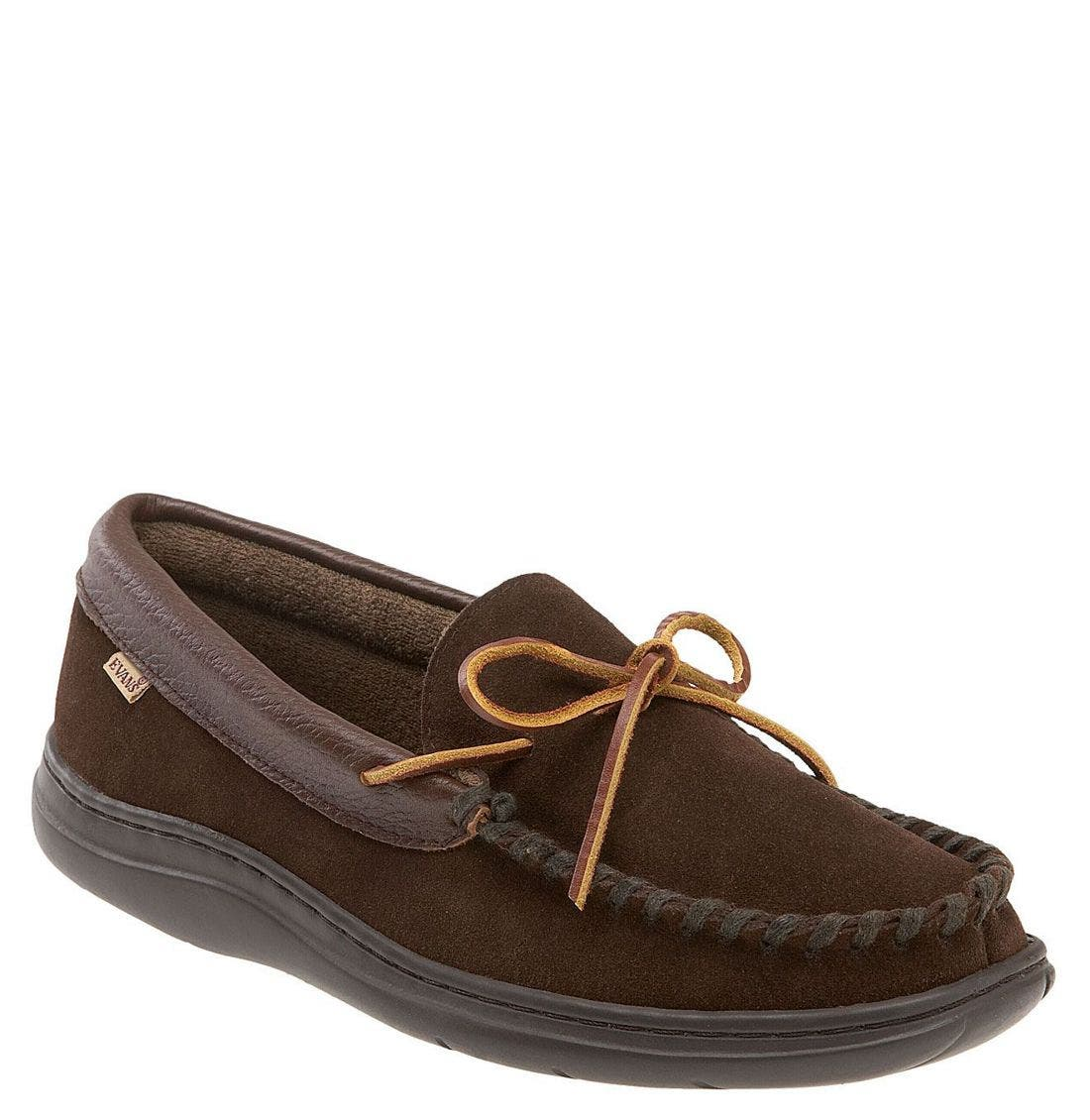 'Atlin' Moccasin,                             Main thumbnail 1, color,                             Chocolate/ Terry
