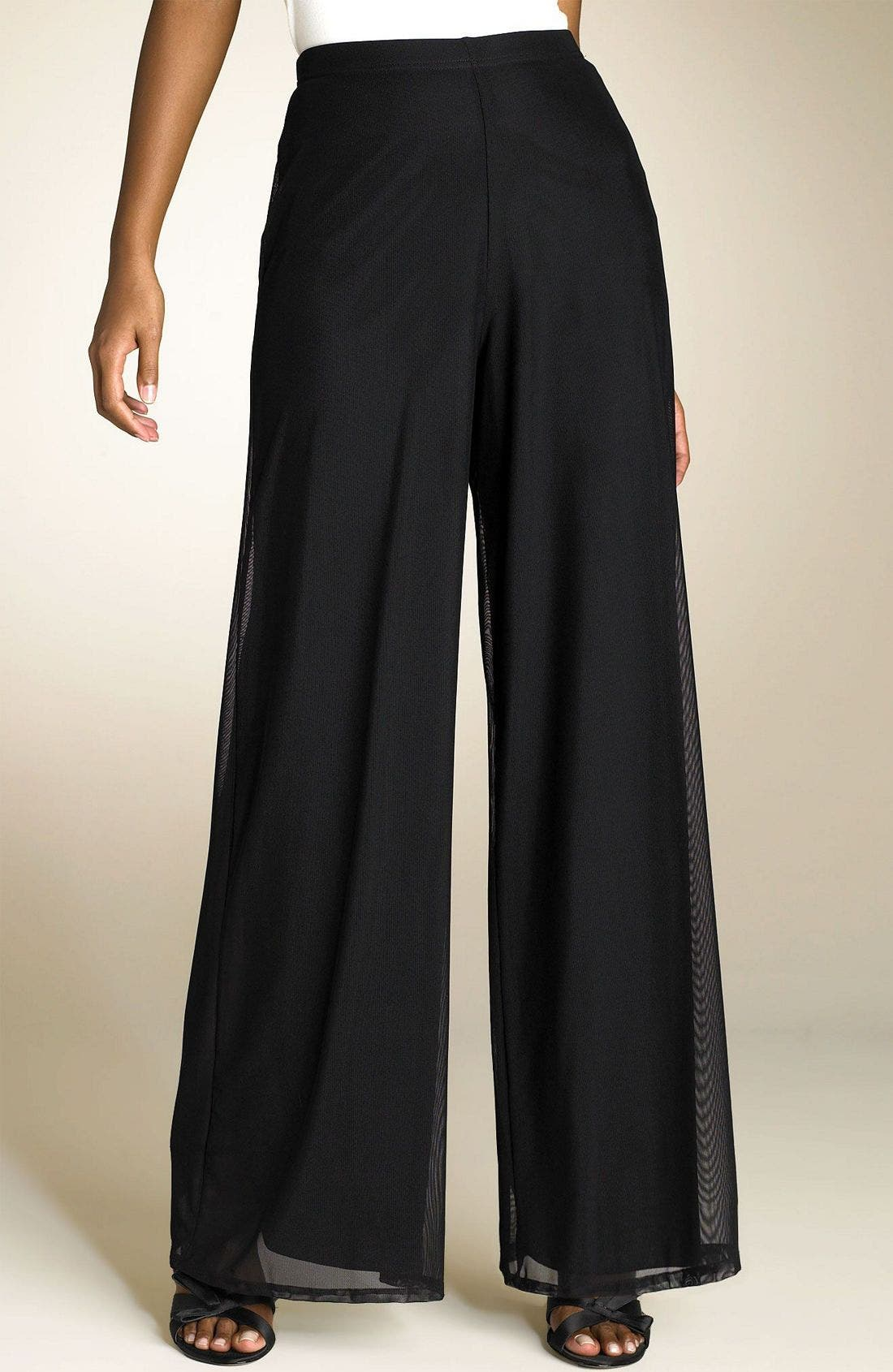 Alternate Image 1 Selected - Tadashi Shoji Stretch Mesh Pants