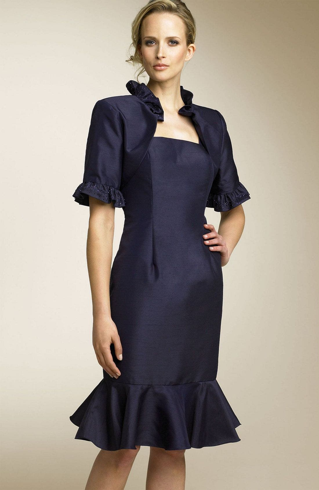Alternate Image 1 Selected - Sean Collection Ruffle Dress & Jacket